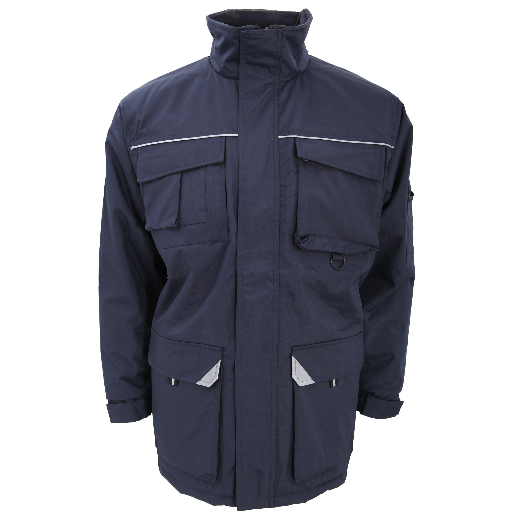 Result Mens Sabre Long Work Coat (M) (Navy Blue)