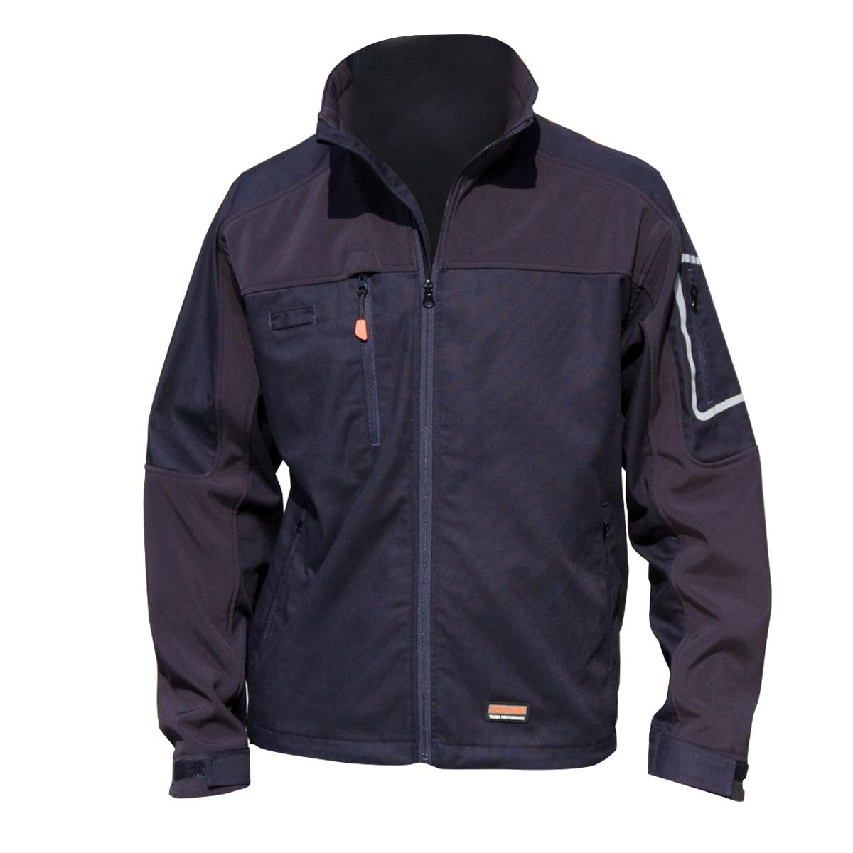 Result Mens Sabre Stretch Work Performance Jacket (2XL) (Navy Blue)