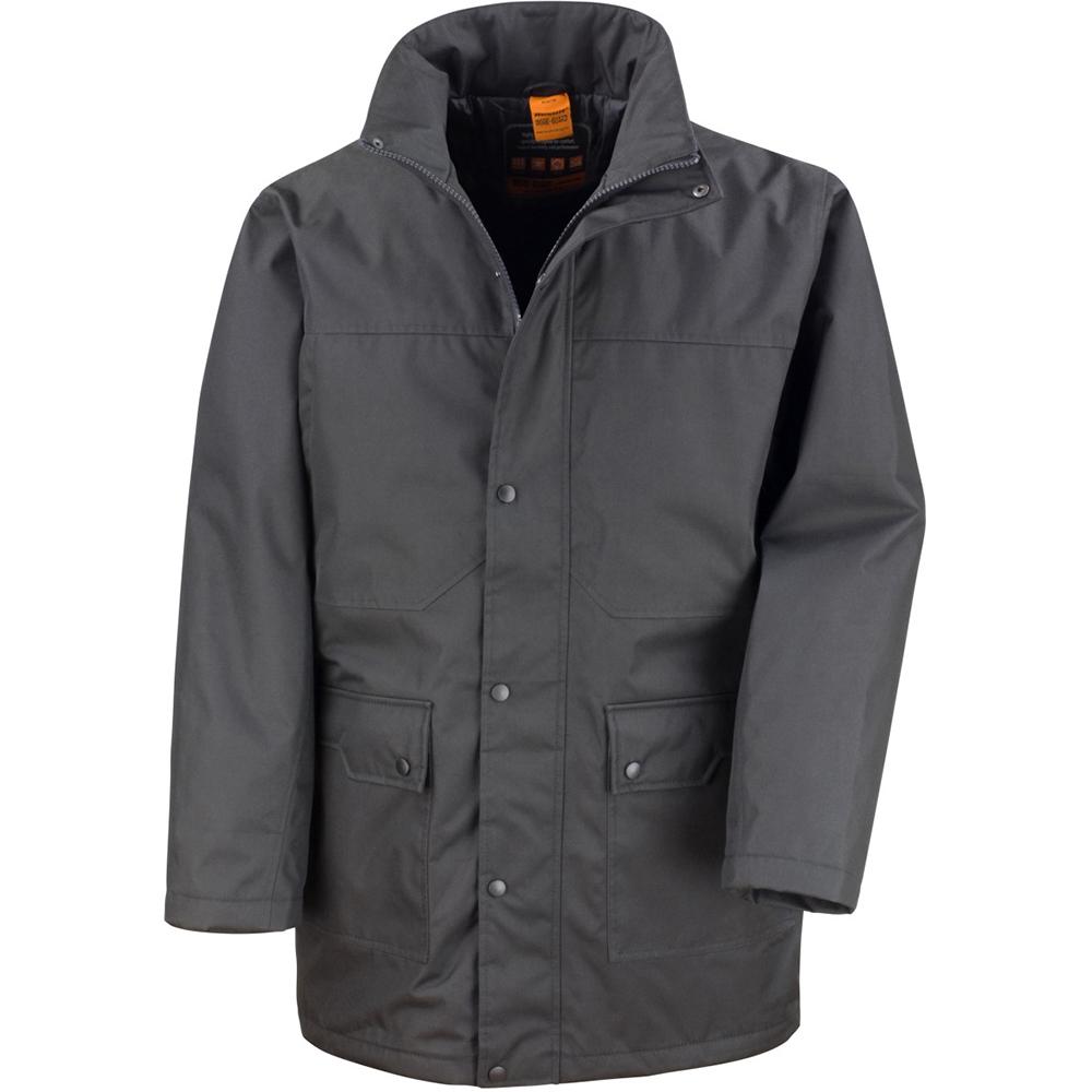 Result Mens Platinum Work Jacket / Coat (L) (Black)