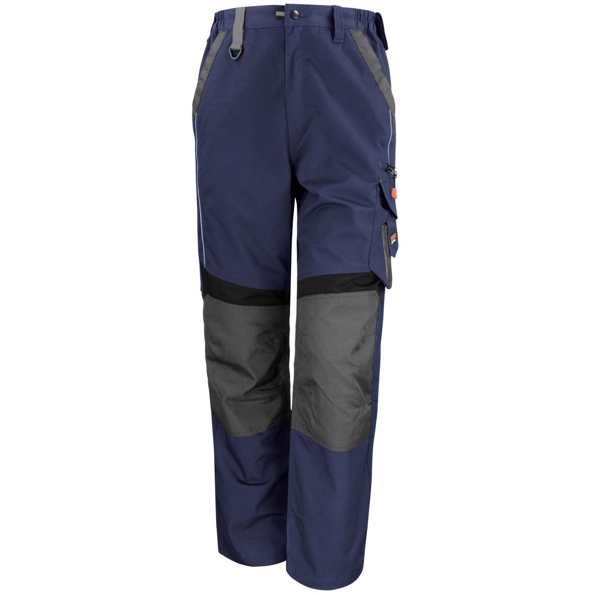 Result Mens Technical Work Trousers (Reg 32 Inch Leg) (36) (Navy/Black)