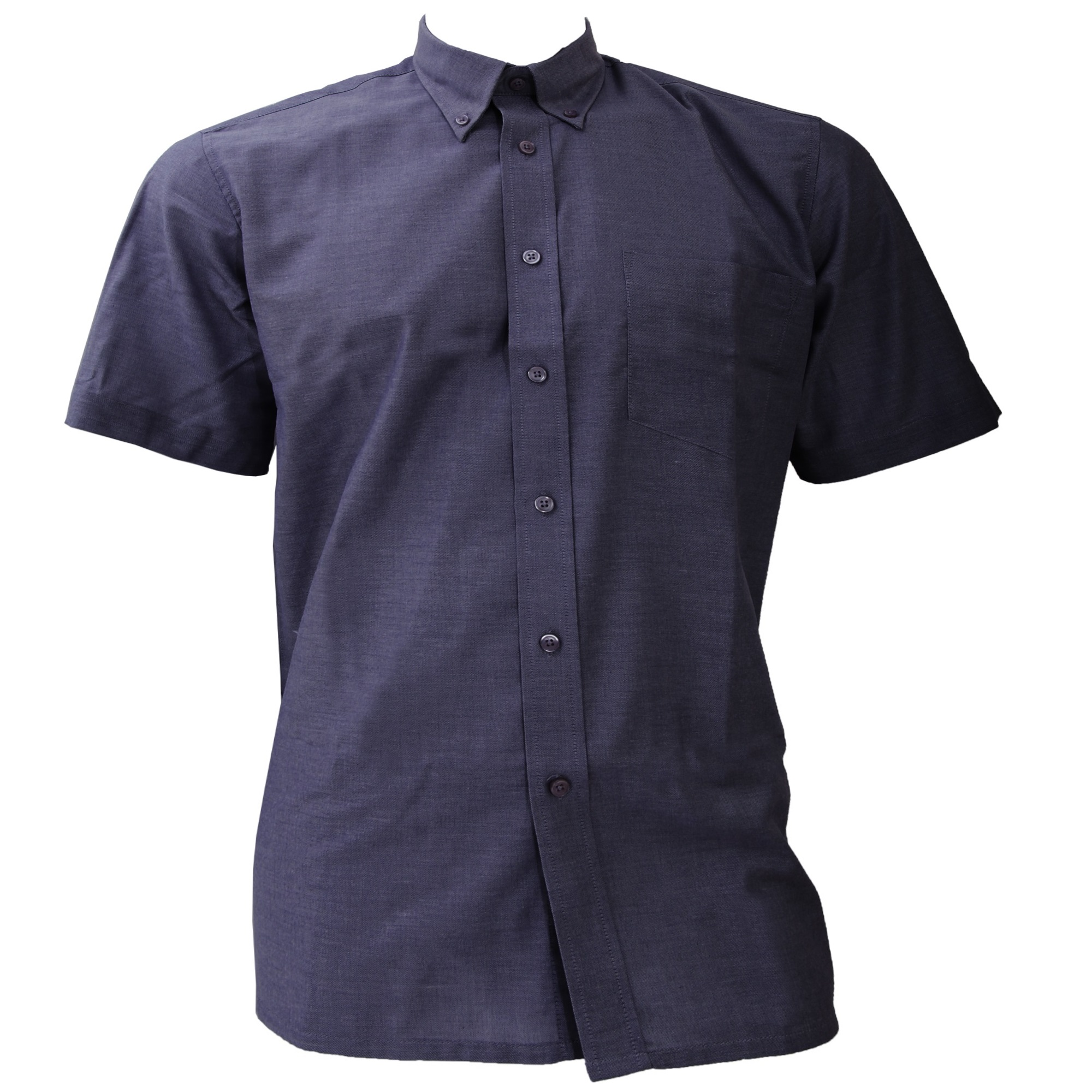 Dickies Short Sleeve Cotton/Polyester Oxford Shirt / Mens Shirts (19.5inch) (Light Blue)