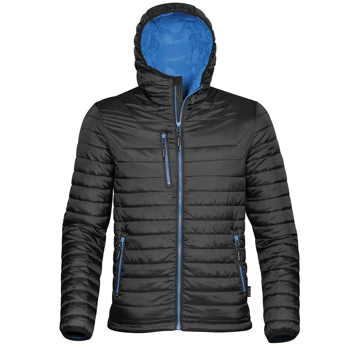 Stormtech Mens Gravity Hooded Thermal Winter Jacket (Durable Water Resistant) (2XL) (Navy/Charcoal)