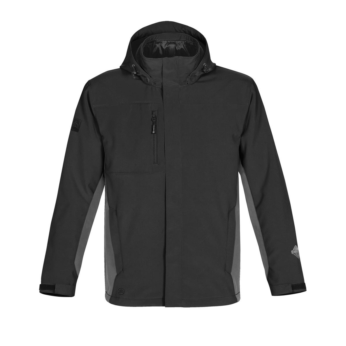 Stormtech Mens Atmosphere 3-in-1 Performance System Jacket (Waterproof & Breathable) (S) (Black/Granite)