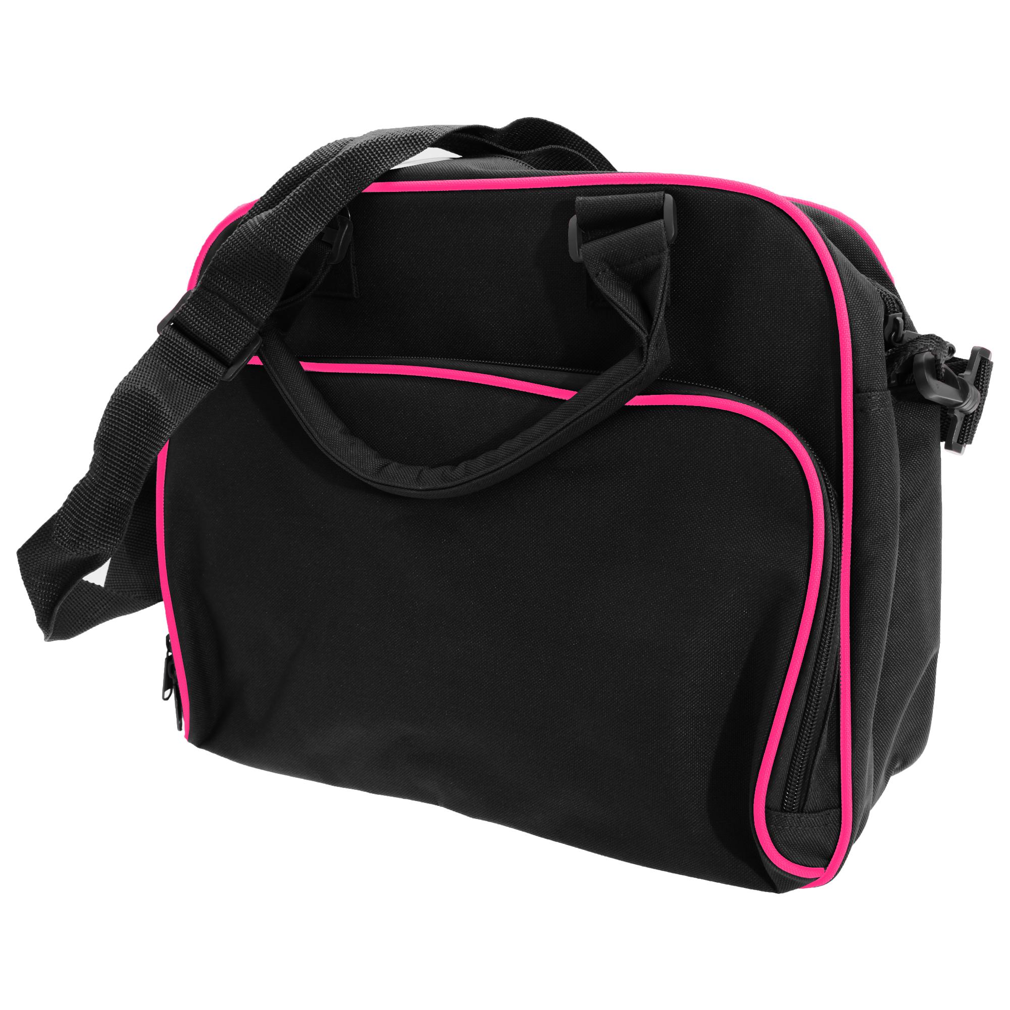 Bagbase Compact Junior Dance Messenger Bag (15 Litres) (One Size) (Black/Fuchia)