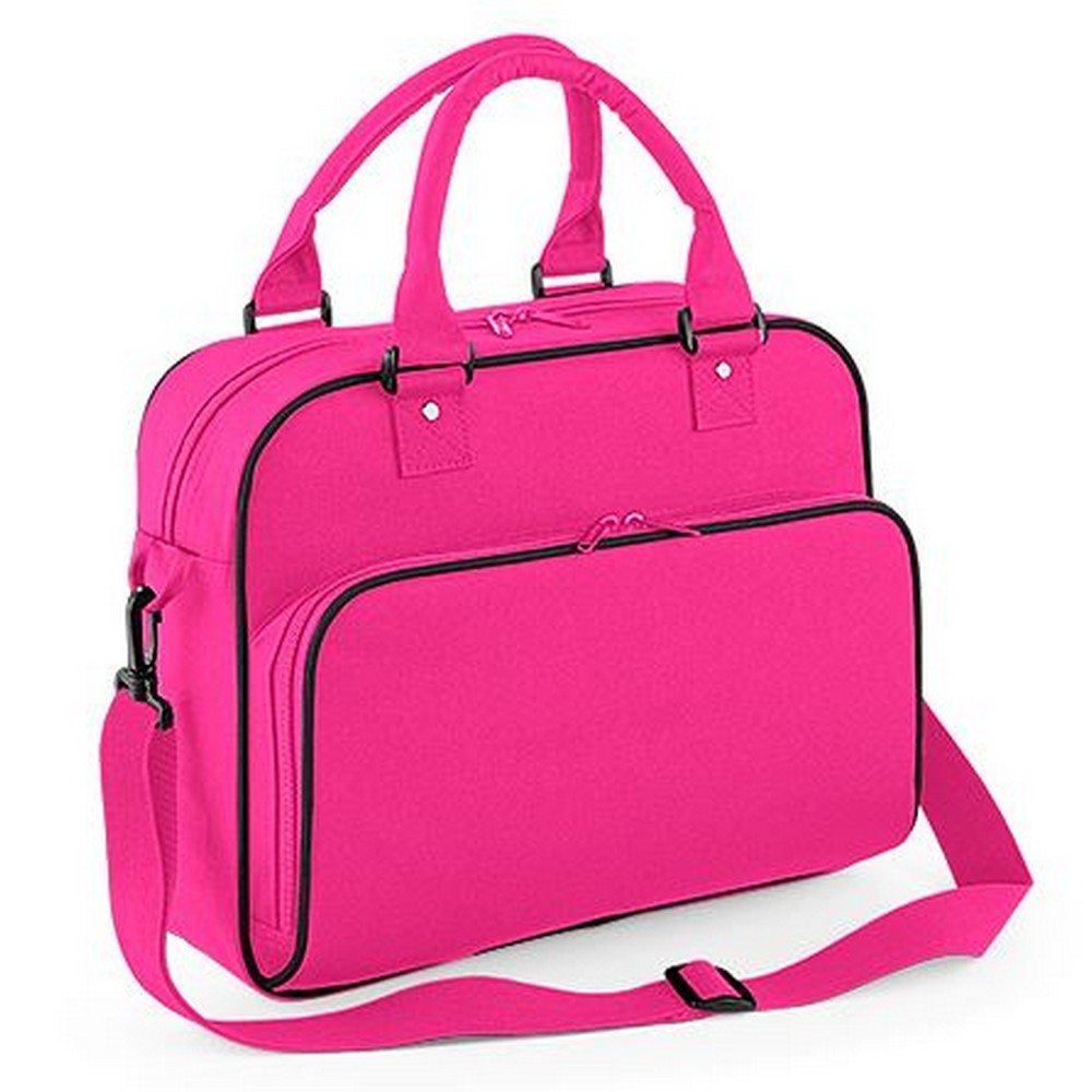 Bagbase Compact Junior Dance Messenger Bag (15 Litres) (One Size) (Fuchsia/Black)