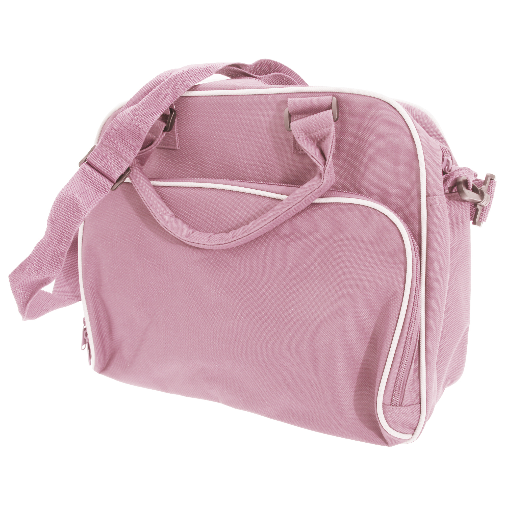 Bagbase Compact Junior Dance Messenger Bag (15 Litres) (One Size) (Classic Pink/Light Grey)