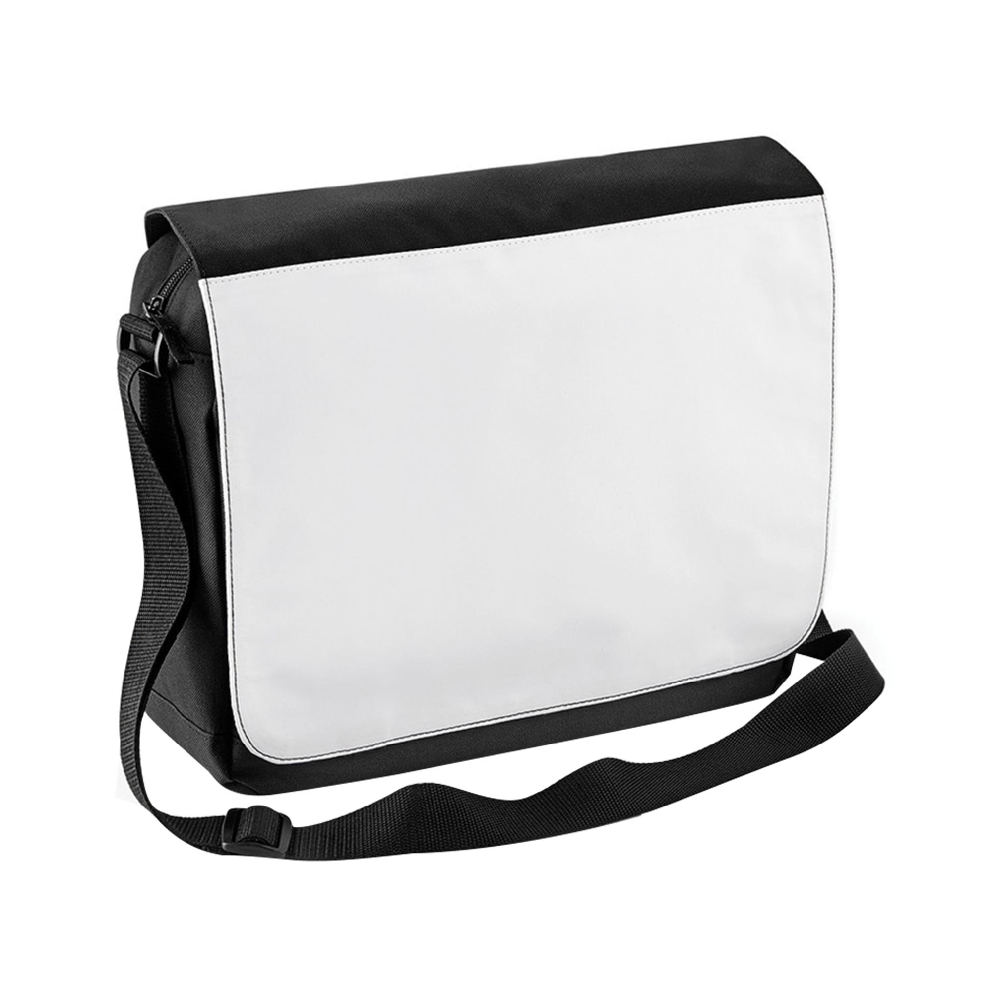 Bagbase Sublimation Messenger Bag (9 Litres) (One Size) (Black)