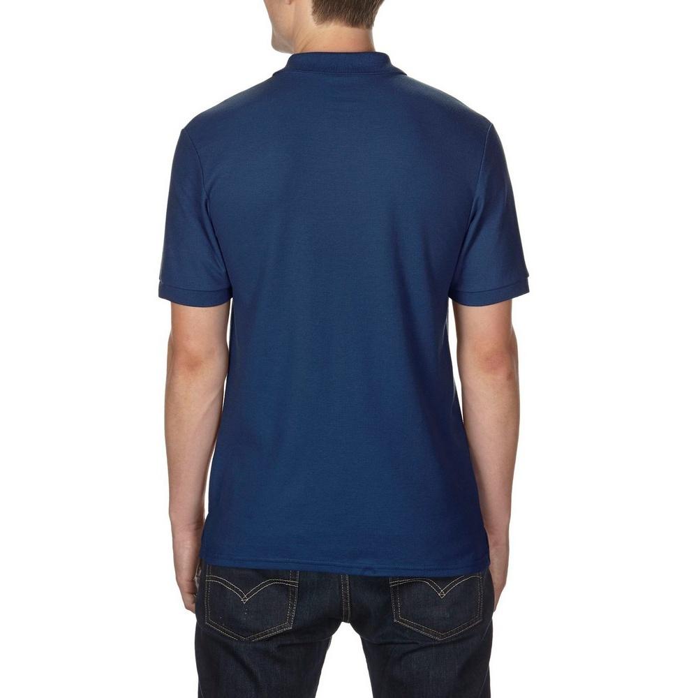 Gildan Mens DryBlend Adult Sport Double Pique Polo Shirt (L) (Navy)