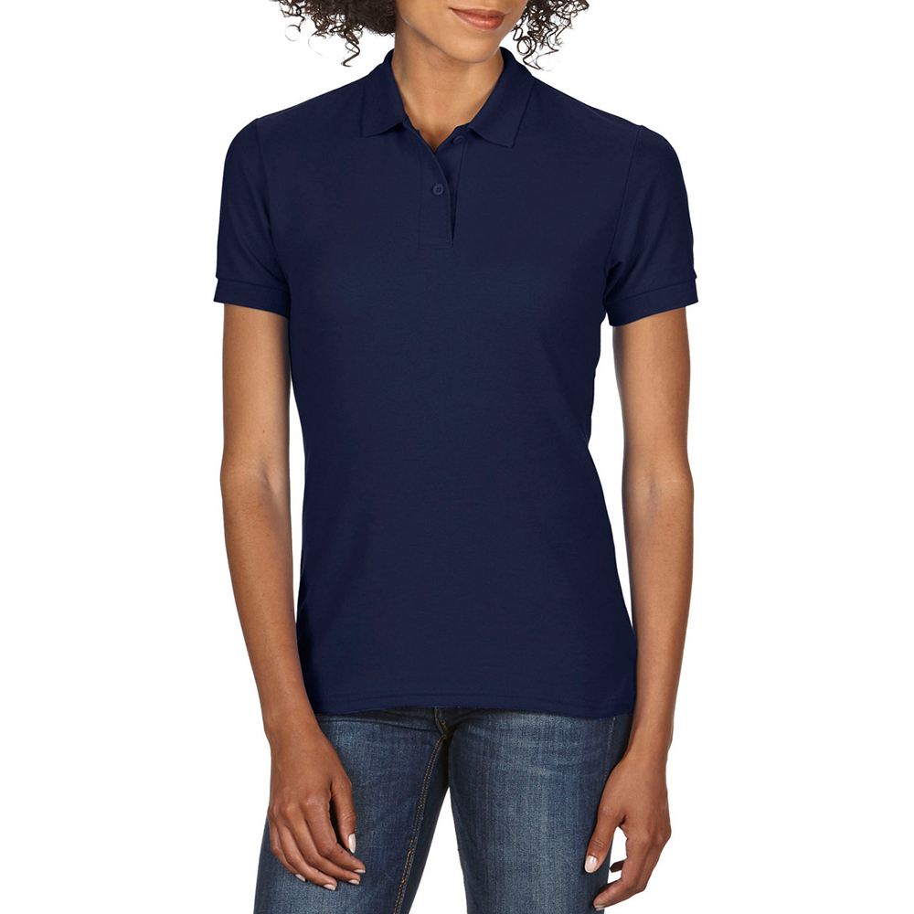 Gildan DryBlend Ladies Sport Double Pique Polo Shirt (BC3192)   eBay 33cf9c9ca6