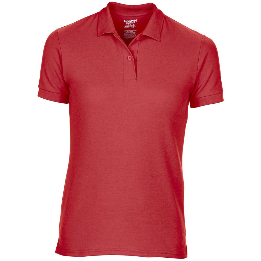 Gildan DryBlend Ladies Sport Double Pique Polo Shirt (M) (Red)