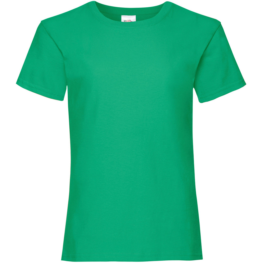 Fruit Of The Loom Girls Childrens Valueweight Short Sleeve T-Shirt (9-11) (Kelly Green)