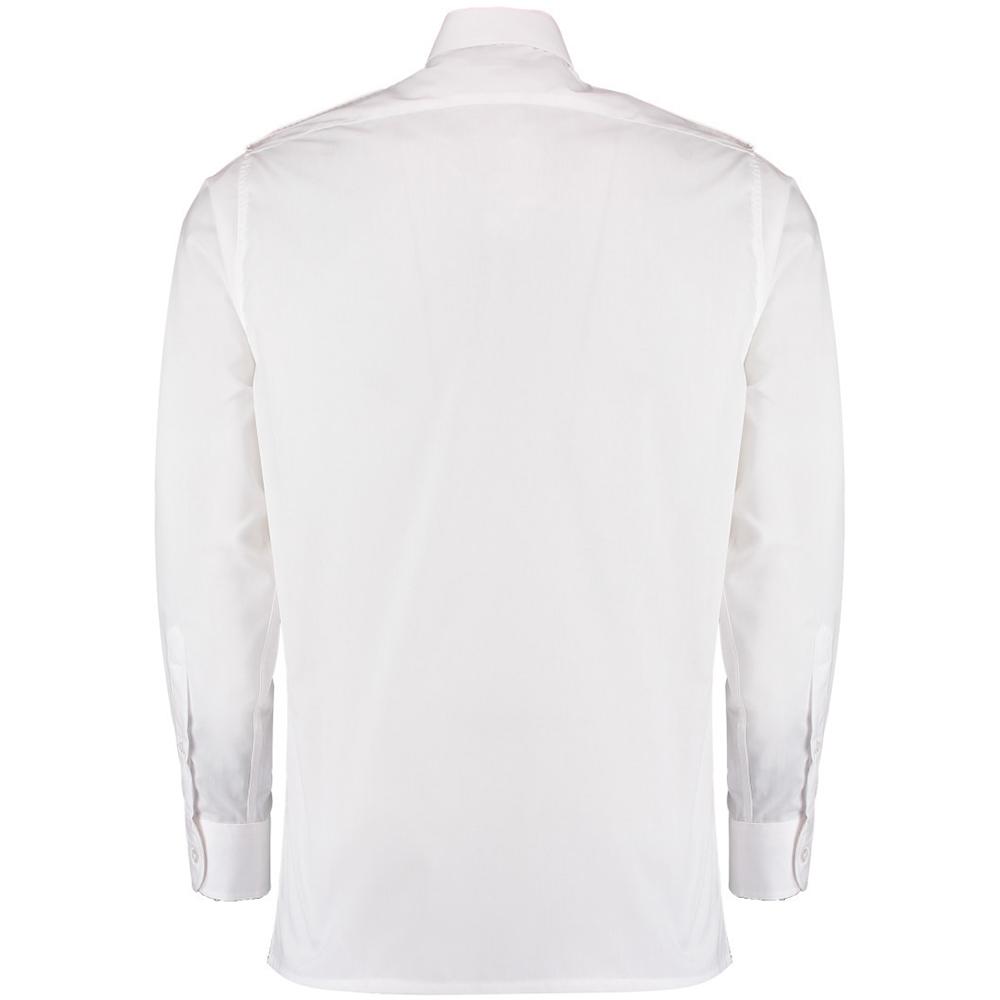 687315f93a4 Kustom Kit Mens Long Sleeve Pilot Shirt (BC3233)