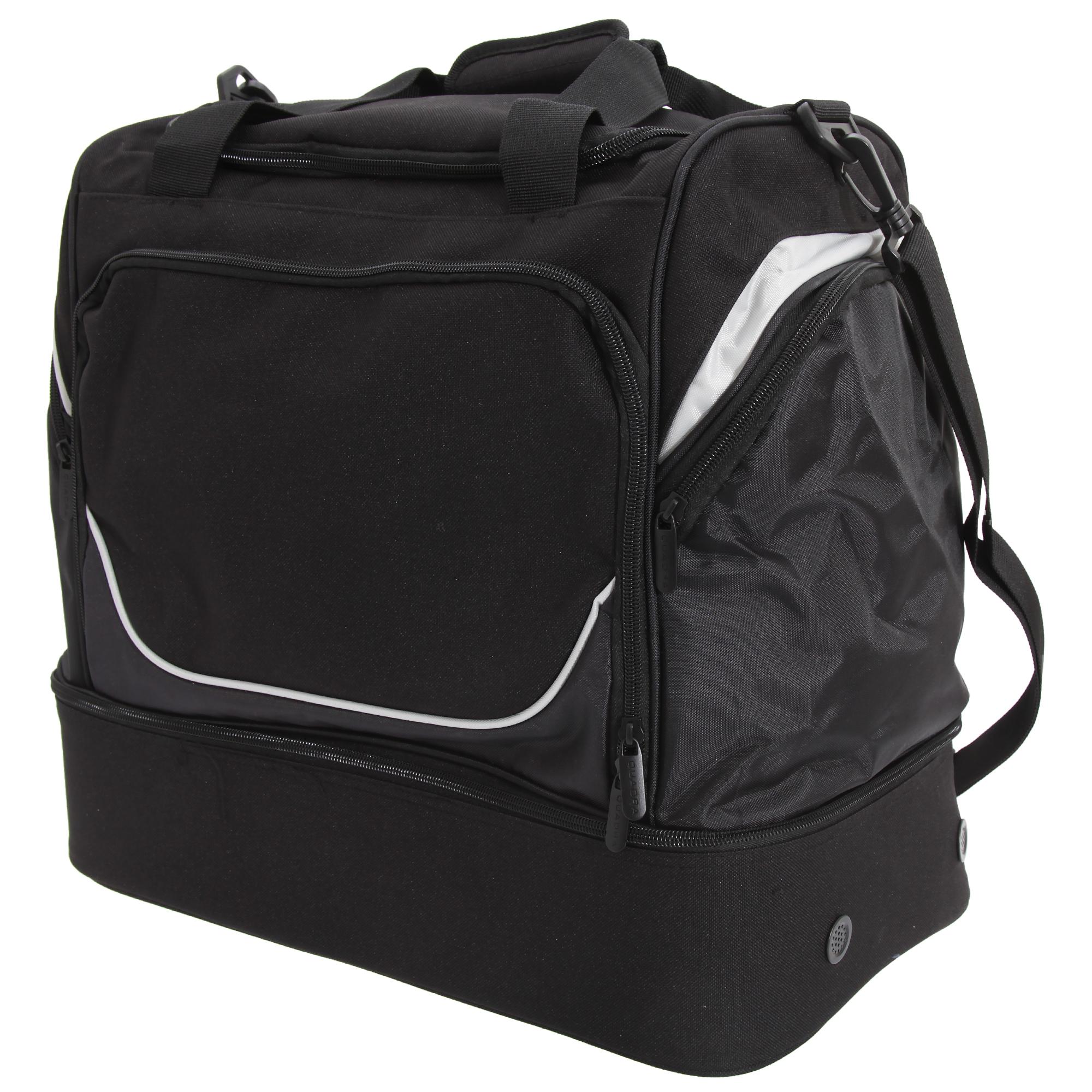 Quadra Pro Team Hardbase Holdall (40 Litres) (One Size) (Black/Light Grey)