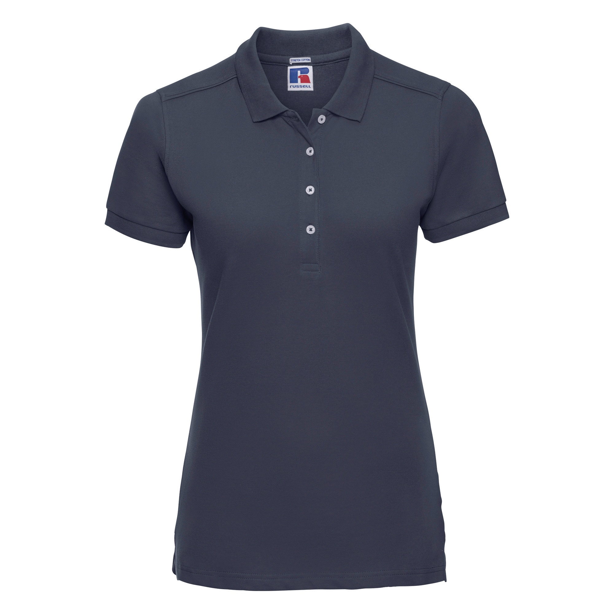 Russell Womens/Ladies Stretch Short Sleeve Polo Shirt (XL) (French Navy)