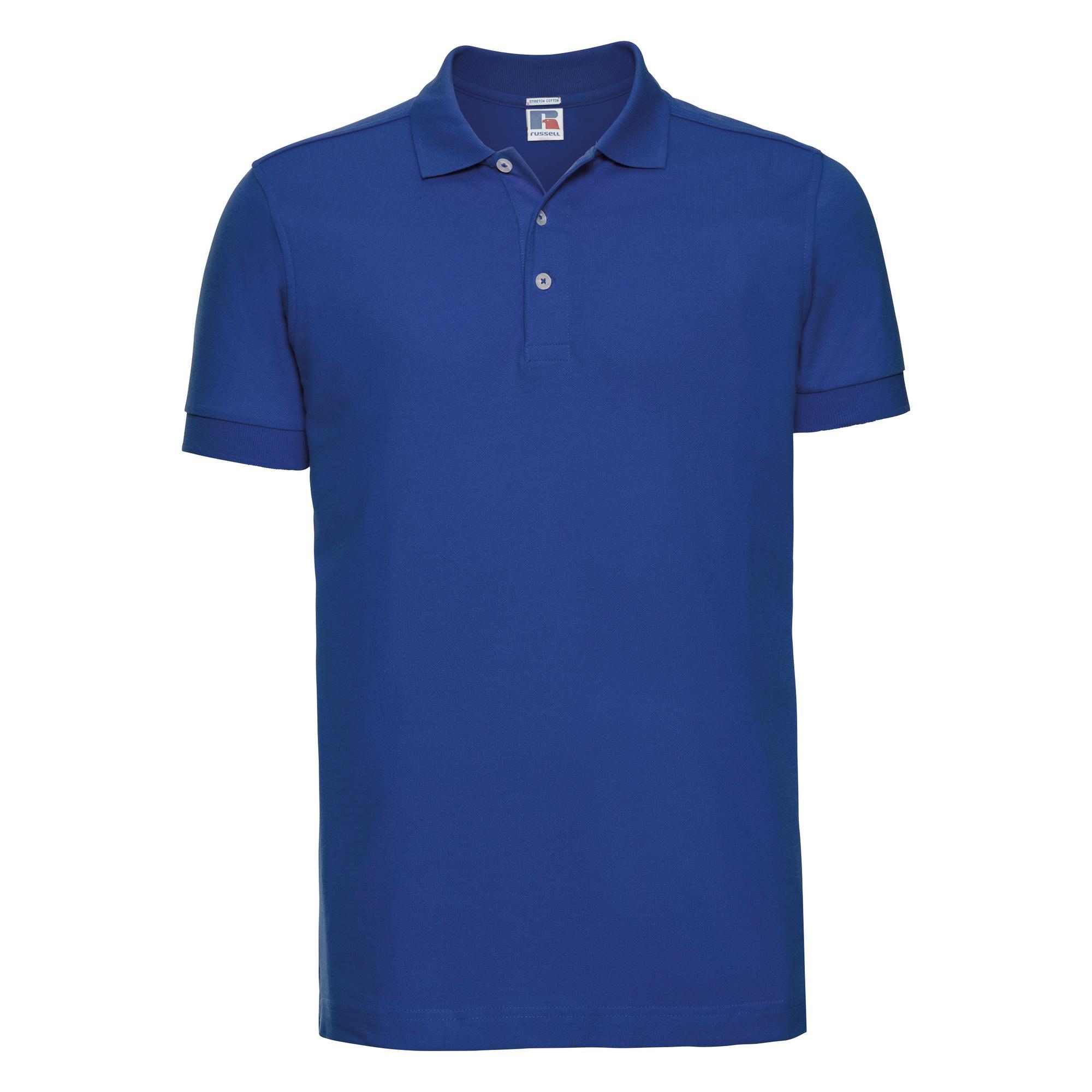 Russell Mens Stretch Short Sleeve Polo Shirt (3XL) (Bright Royal)