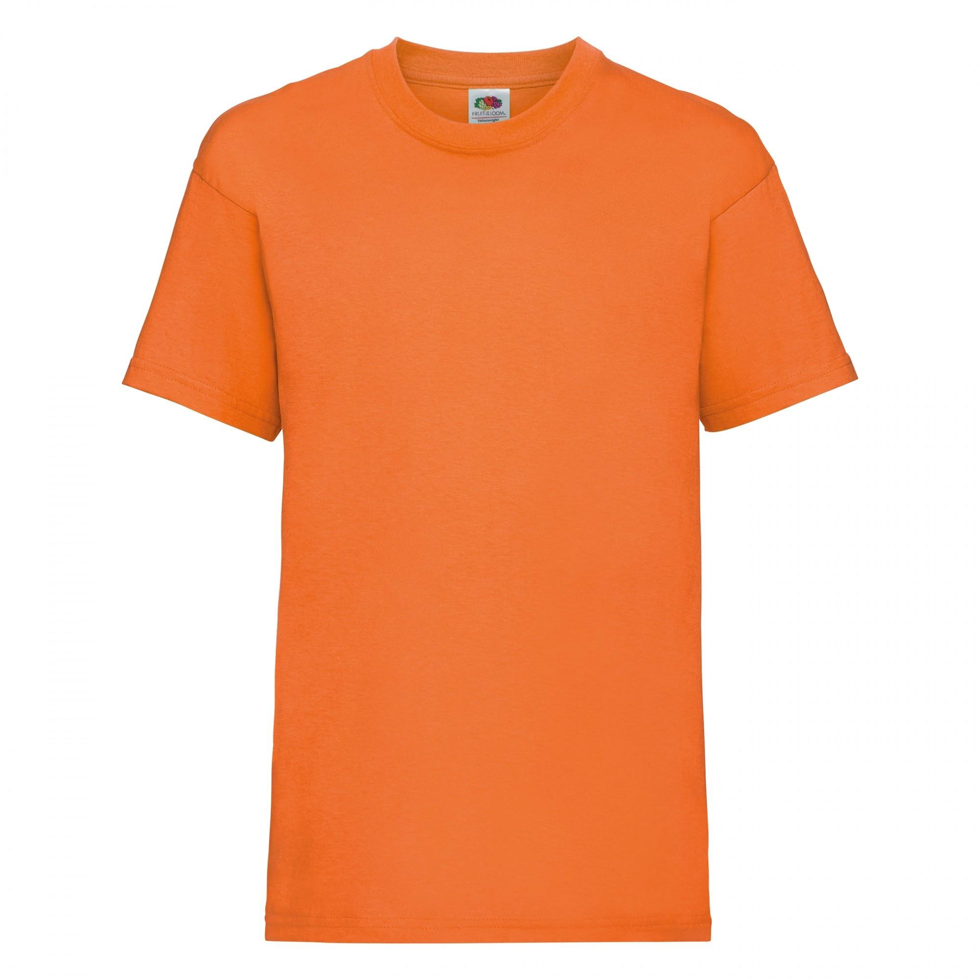 Fruit Of The Loom Childrens/Kids Unisex Valueweight Short Sleeve T-Shirt (7-8) (Orange)
