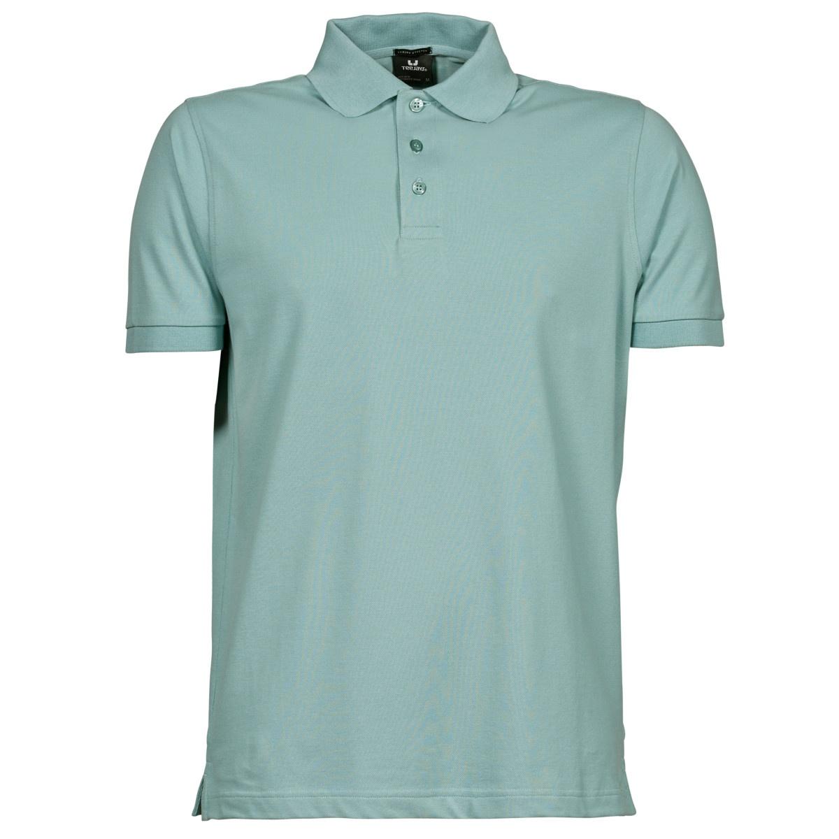 Tee Jays Mens Luxury Stretch Short Sleeve Polo Shirt (2XL) (Deep Red)