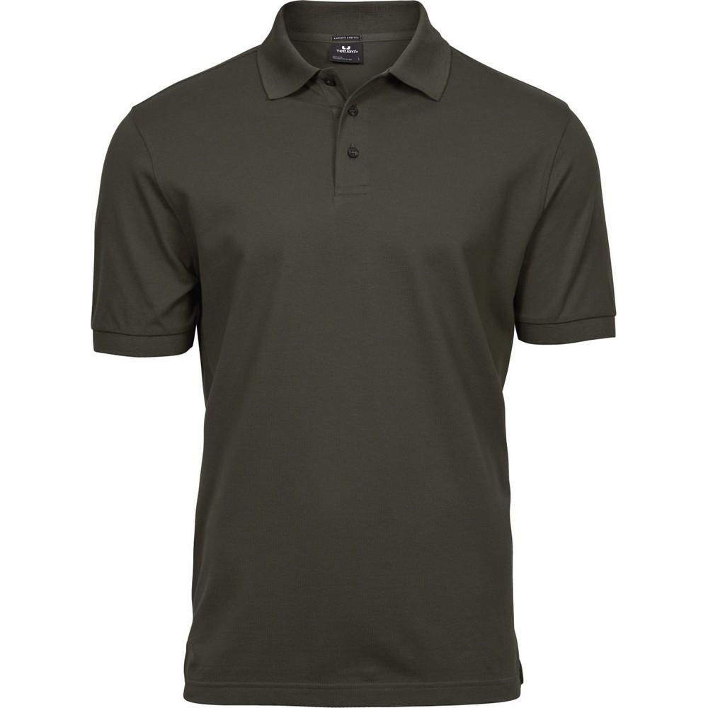 Tee Jays Mens Luxury Stretch Short Sleeve Polo Shirt (3XL) (Indigo)