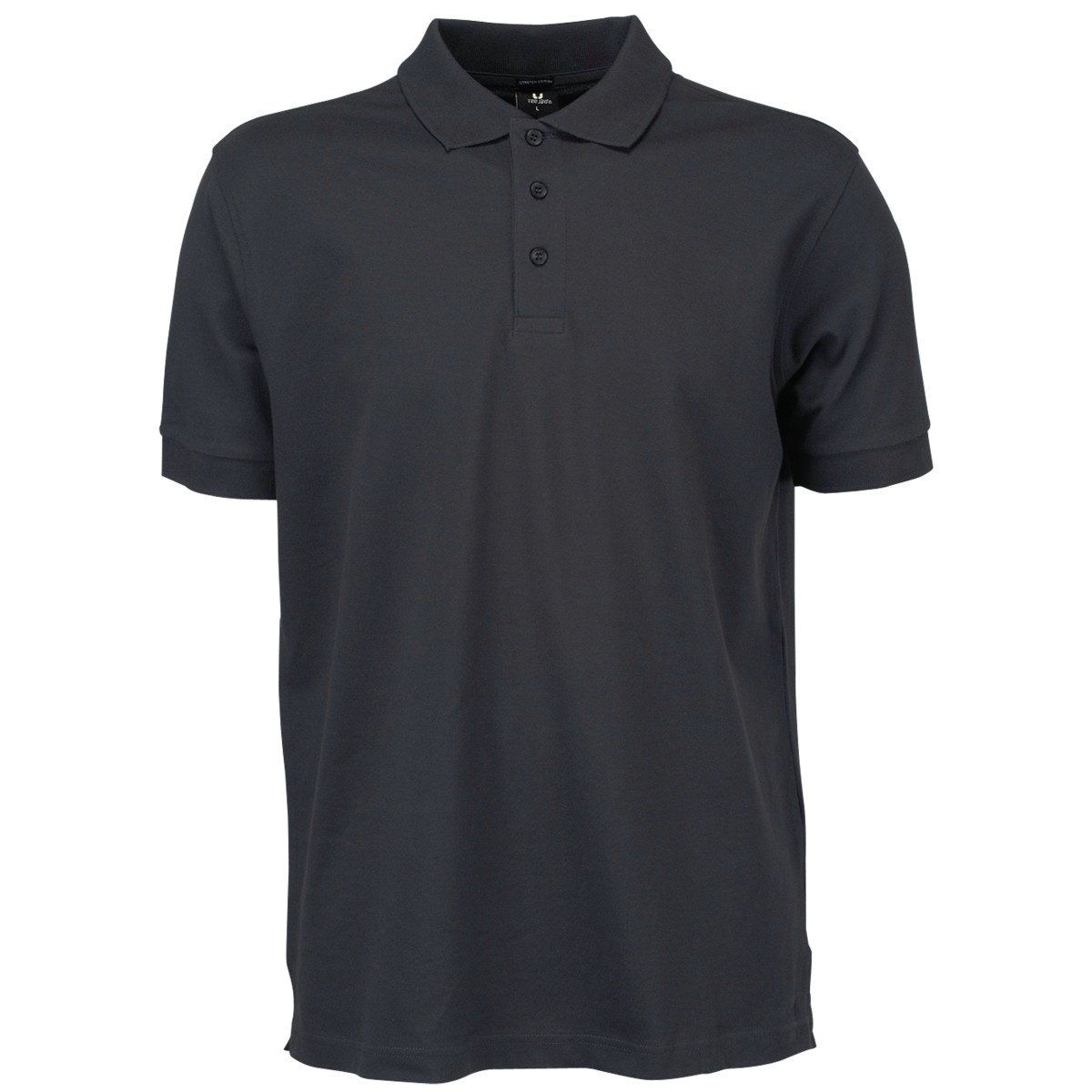 Tee Jays Mens Luxury Stretch Short Sleeve Polo Shirt (3XL) (Black)
