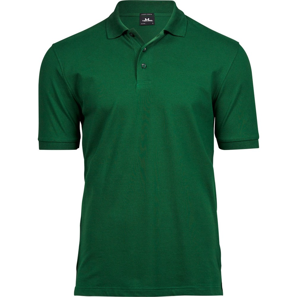 Tee Jays Mens Luxury Stretch Short Sleeve Polo Shirt (2XL) (Forest Green)
