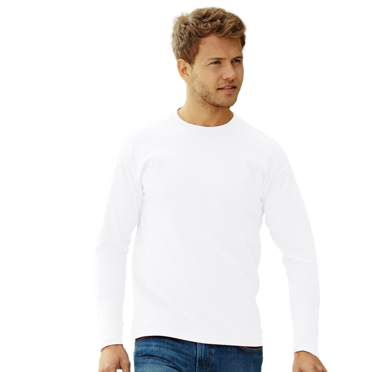 miniature 4 - T-shirt à manches longues Fruit Of The Loom, 100% coton, pour homme (BC331)