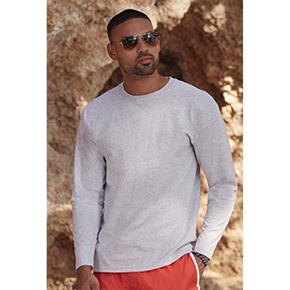 miniature 6 - T-shirt à manches longues Fruit Of The Loom, 100% coton, pour homme (BC331)