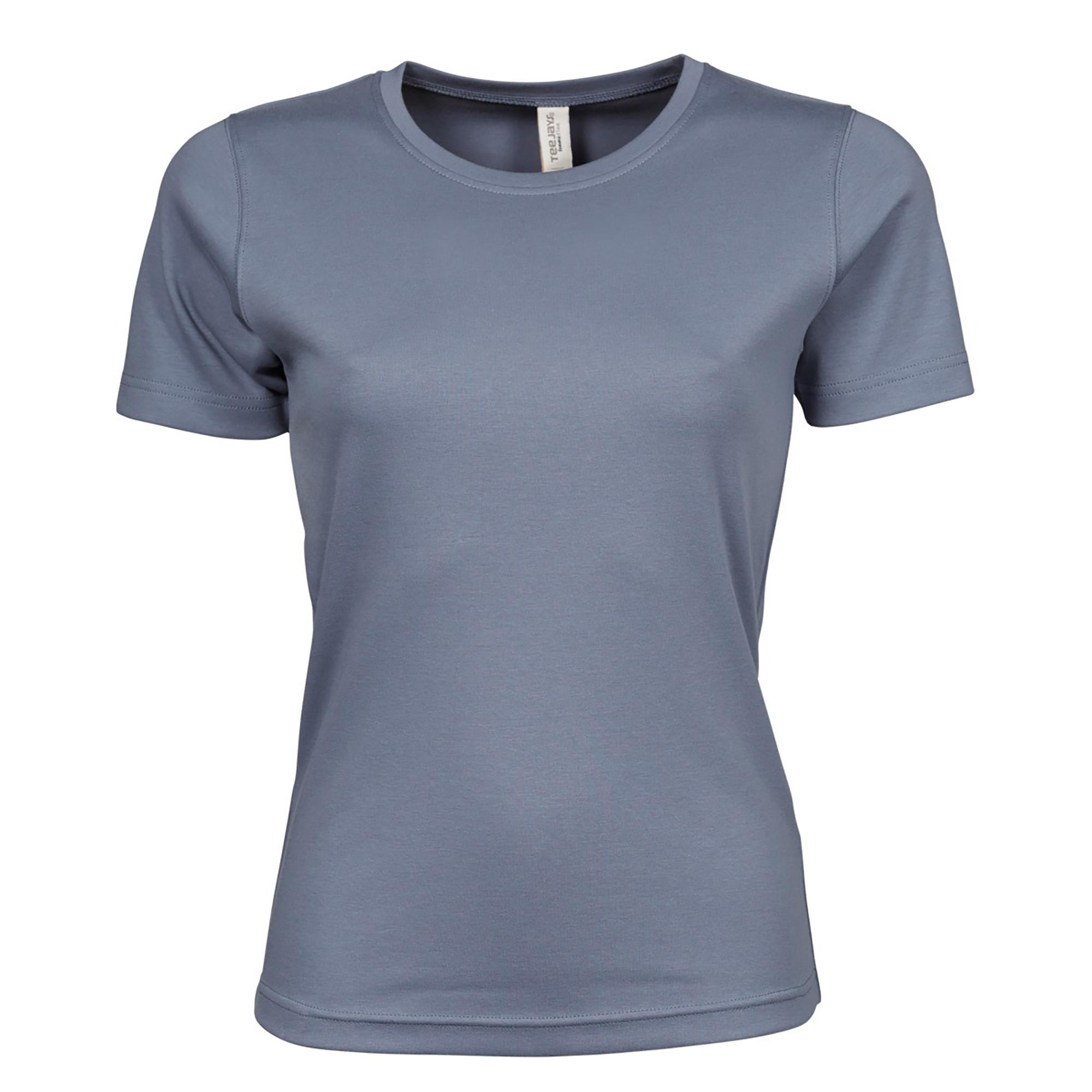 Tee Jays Womens/Ladies Interlock Short Sleeve T-Shirt (S) (Azure Blue)