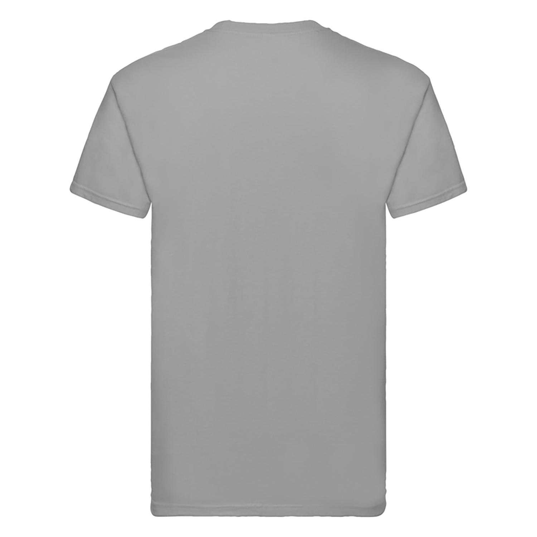 Fruit Of The Loom Mens Super Premium Short Sleeve Crew Neck T-Shirt (XL) (Ash Grey)