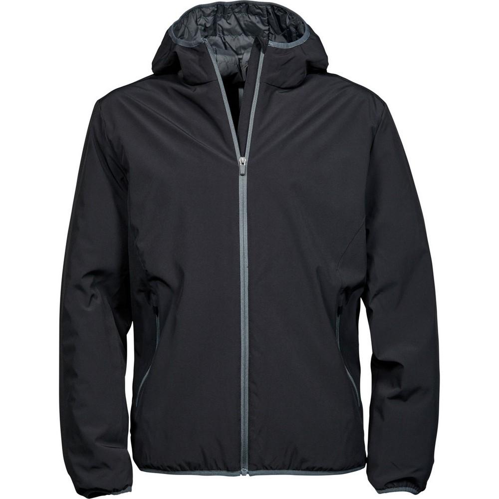 Tee Jays Mens New York Jacket (Waterproof, Windproof & Breathable) (2XL) (Black/Space Grey)