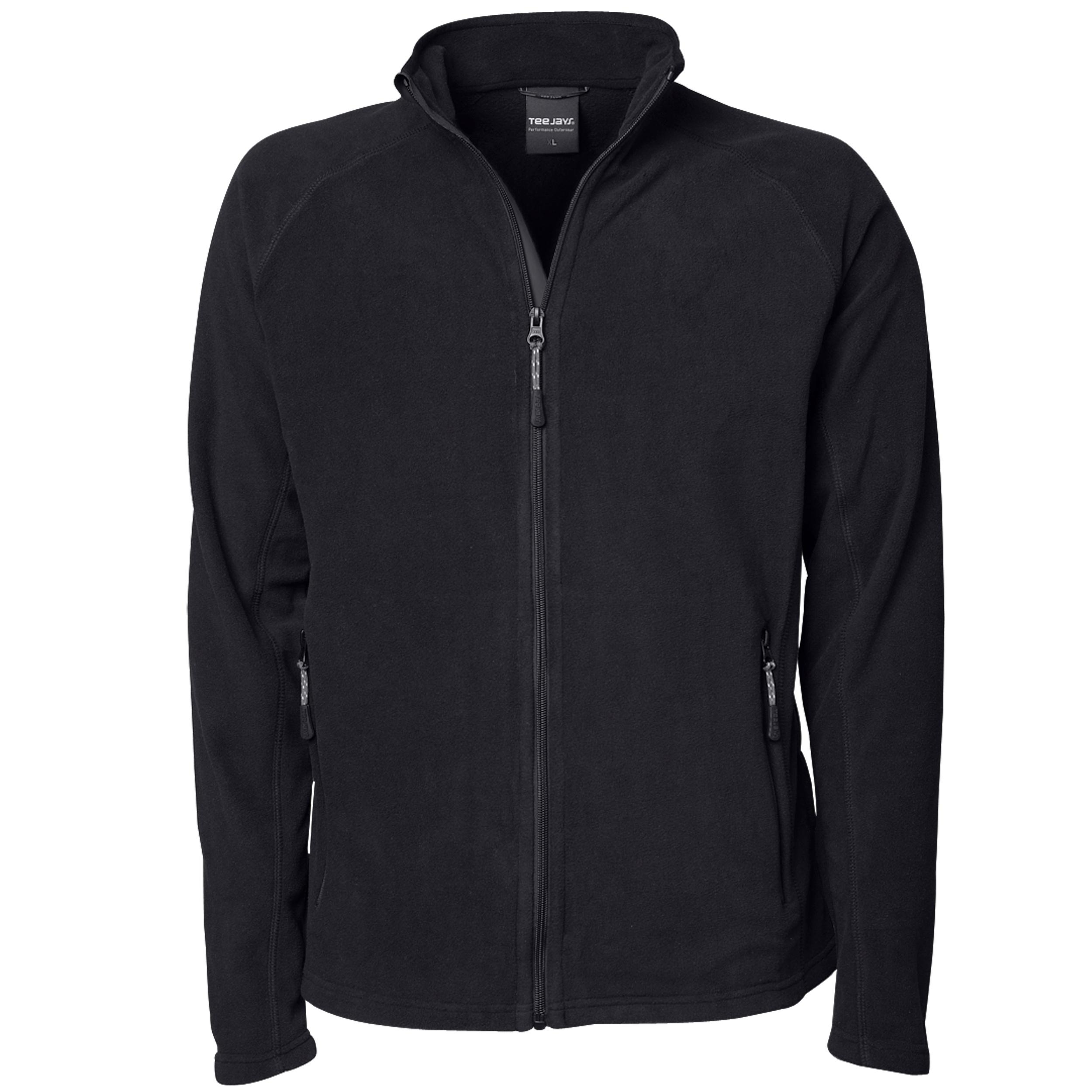 Tee Jays Mens Full Zip Active Lightweight Fleece Jacket (XL) (Black)