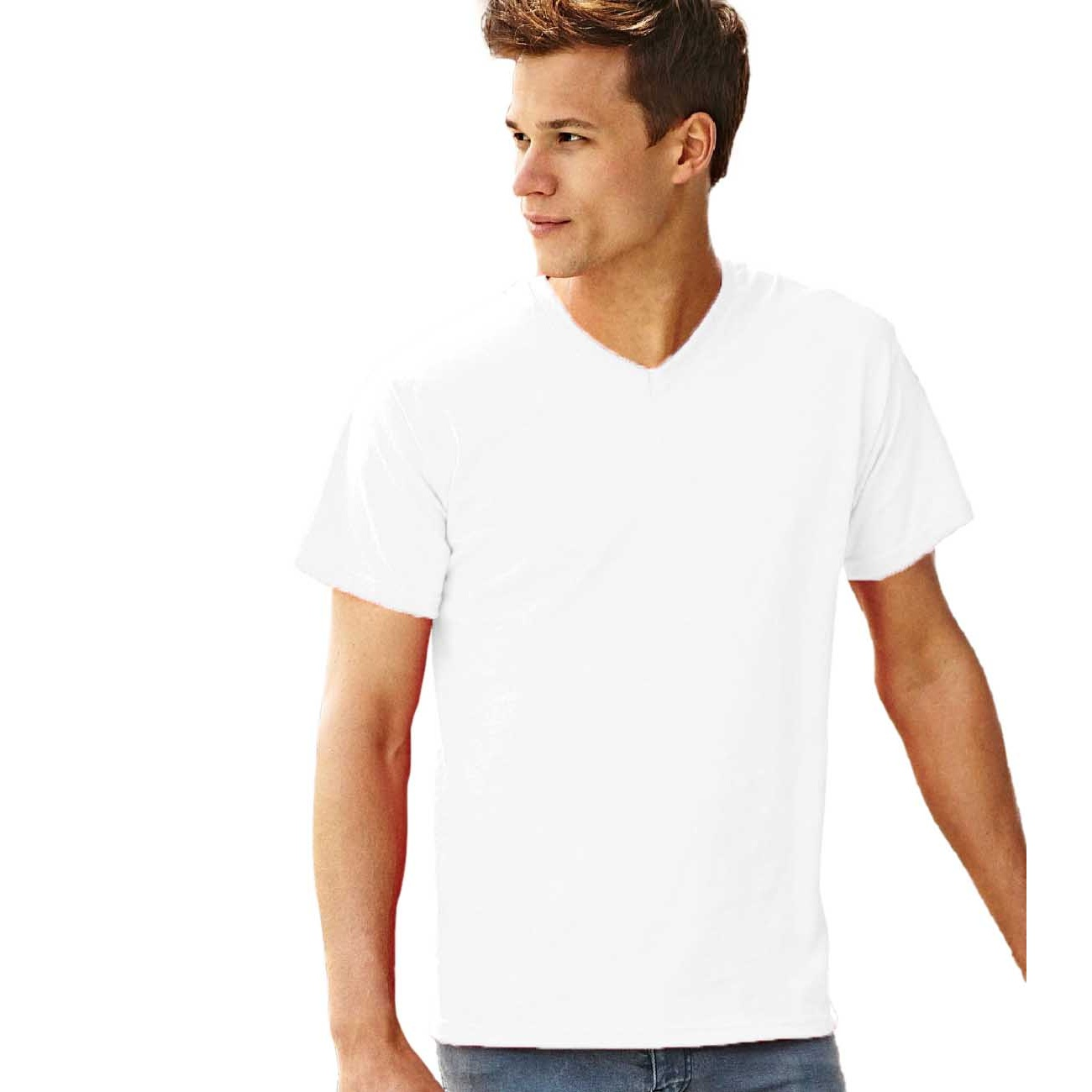 BC338 Fruit Of The Loom Mens Valueweight V-Neck T-Short Sleeve T-Shirt