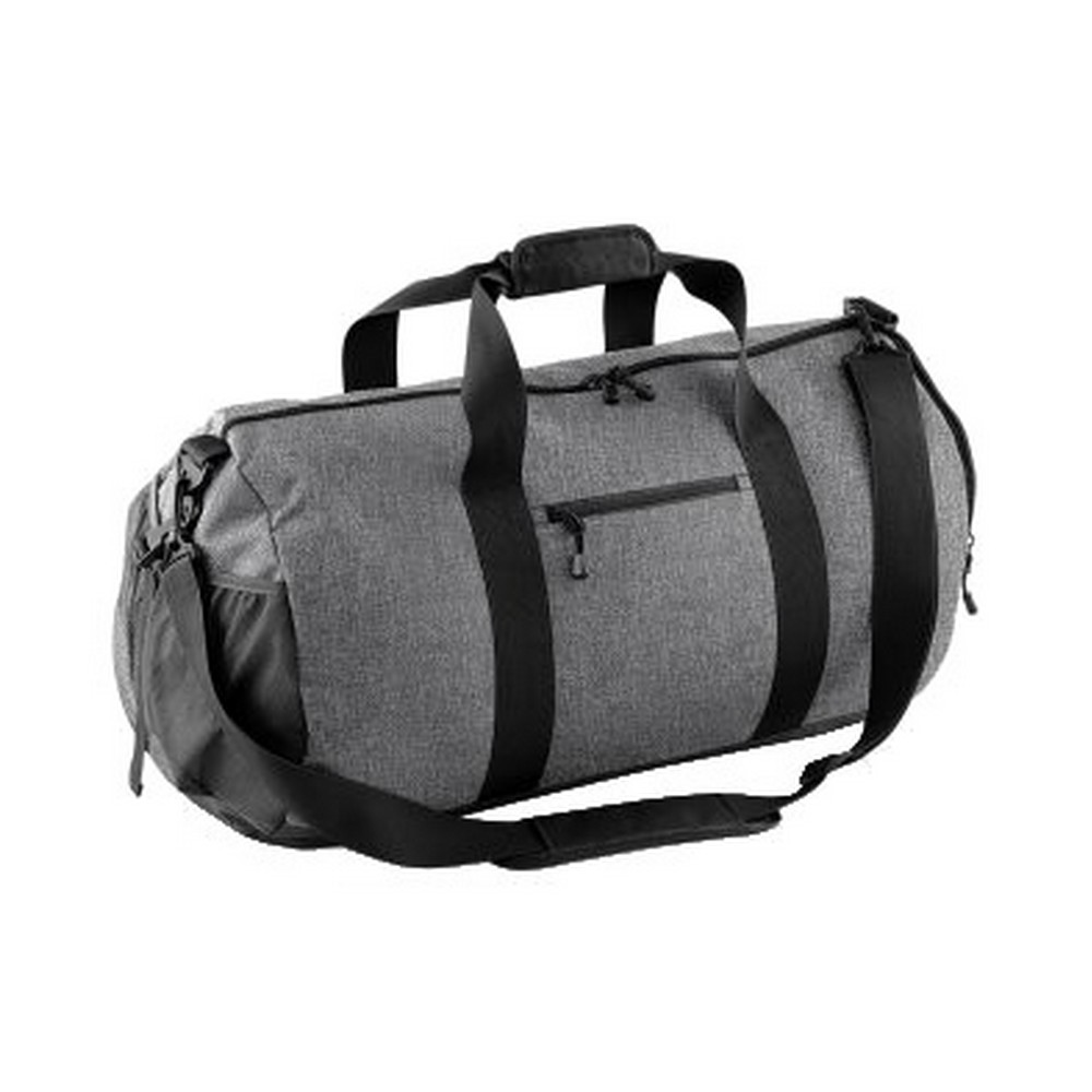 Bagbase Athleisure Water Resistant Shoulder Strap Holdall Kit Bag (One Size) (Grey Marl)