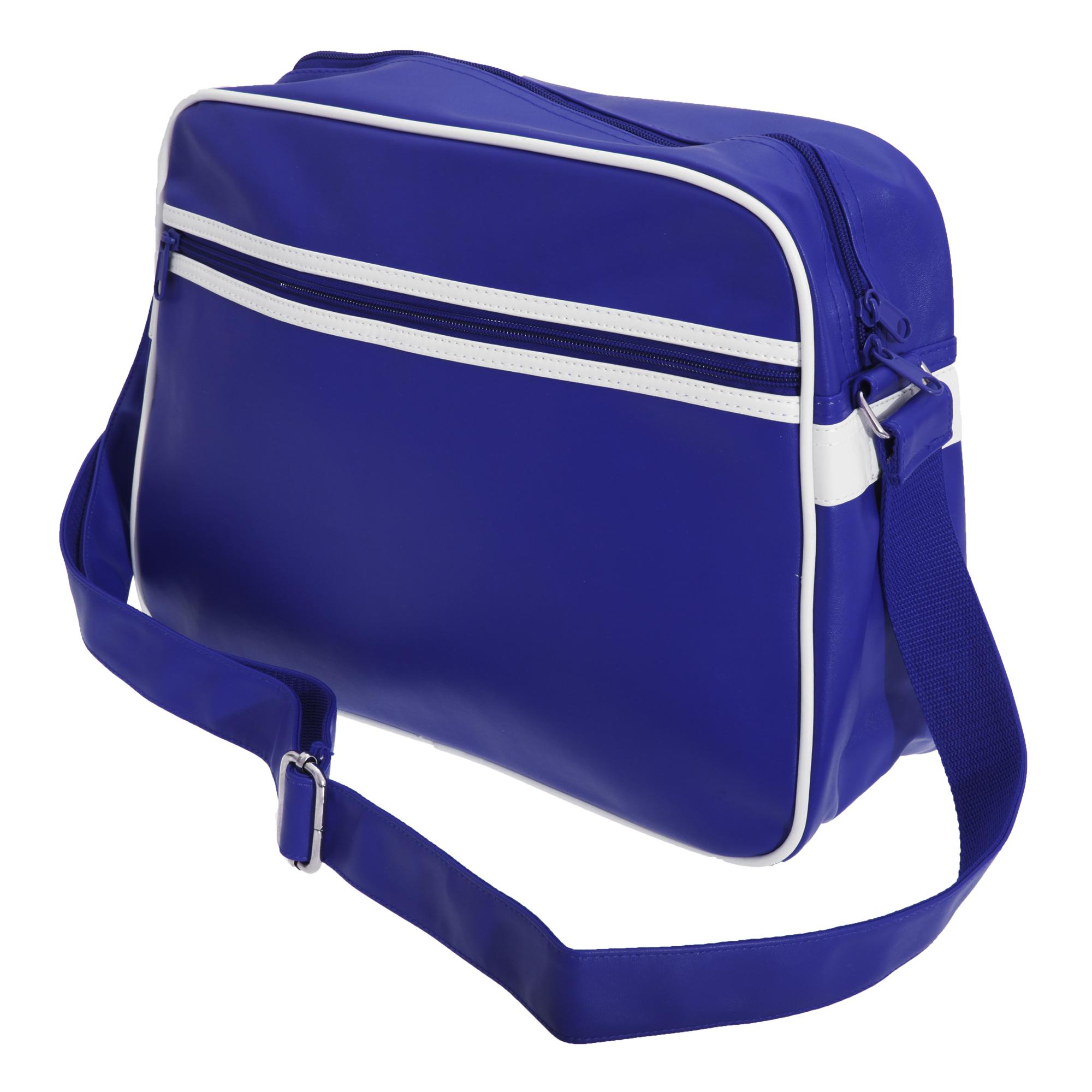 Bagbase Original Retro Shoulder Strap Messenger Bag (One Size) (French Navy/White)
