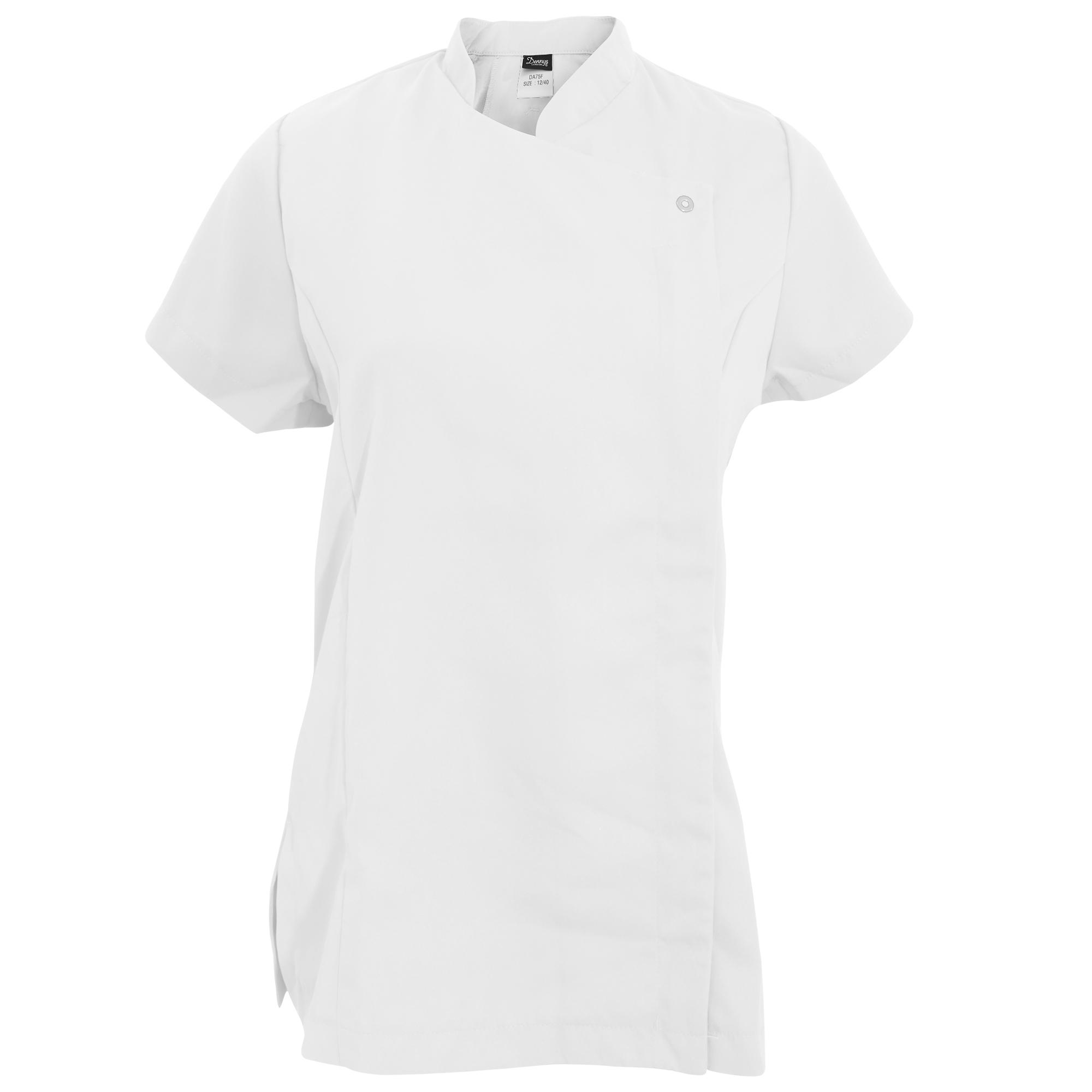 Dennys Womens/Ladies Asymmetric Zip Fastening Beauty Tunic (16) (White)