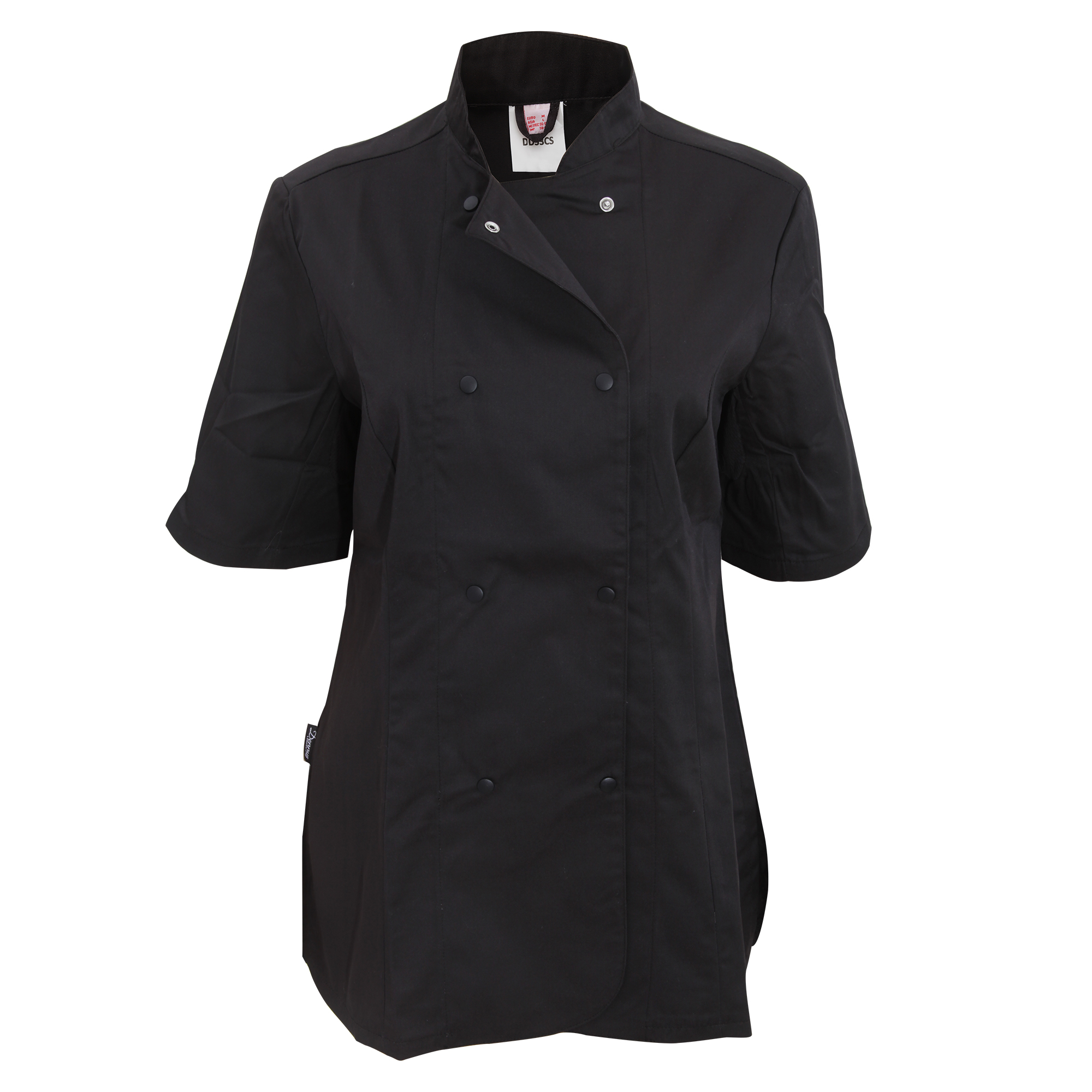 Dennys Womens/Ladies Short Sleeve Fitted Chef Jacket (XL) (White)