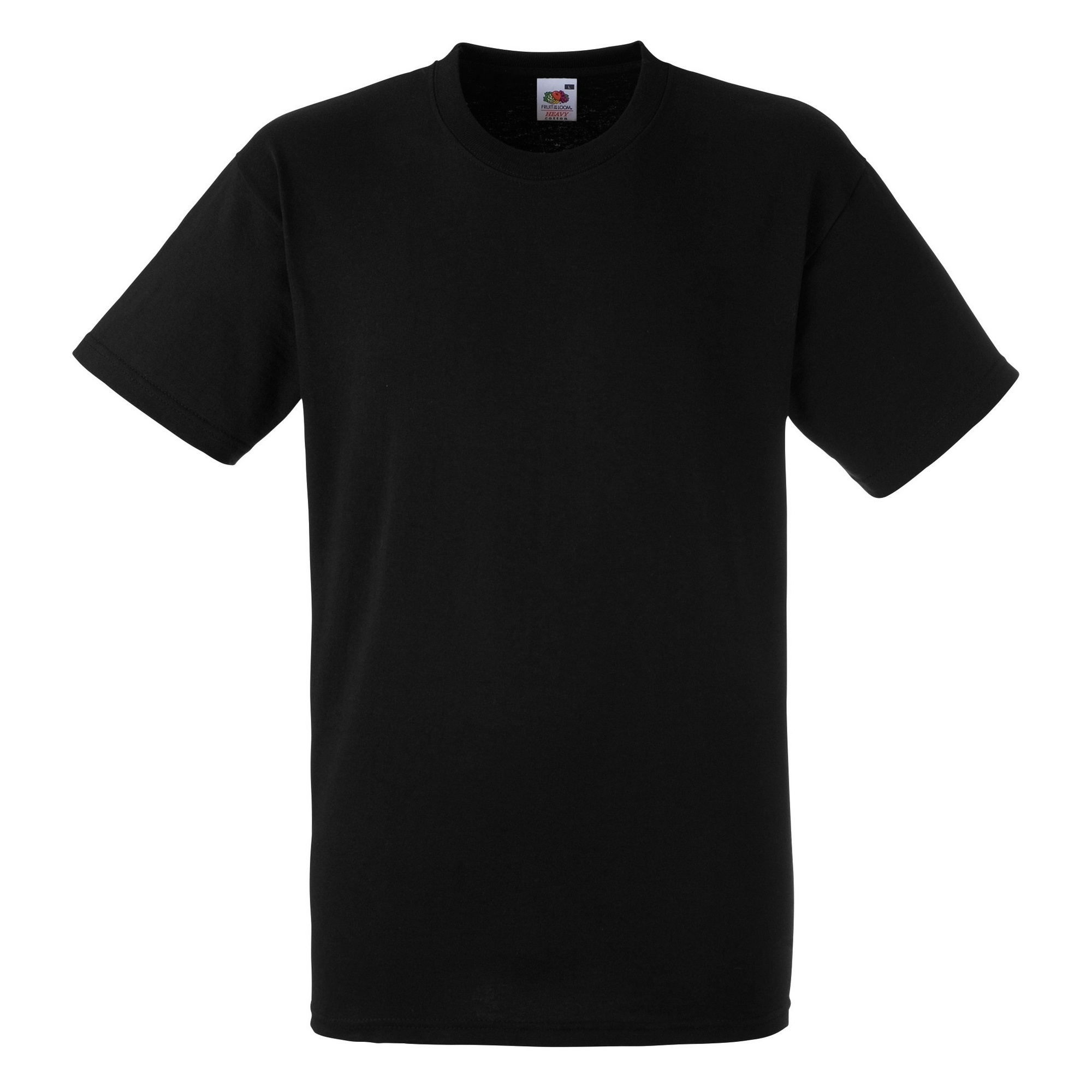 Fruit Of The Loom Mens Heavy Weight Belcoro® Cotton Short Sleeve T-Shirt (L) (Black)