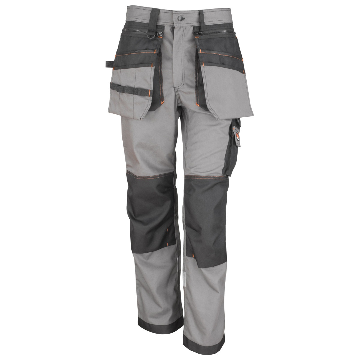 Result Workguard Mens X-Over Heavy Work Trousers (4XL) (Grey/Black)
