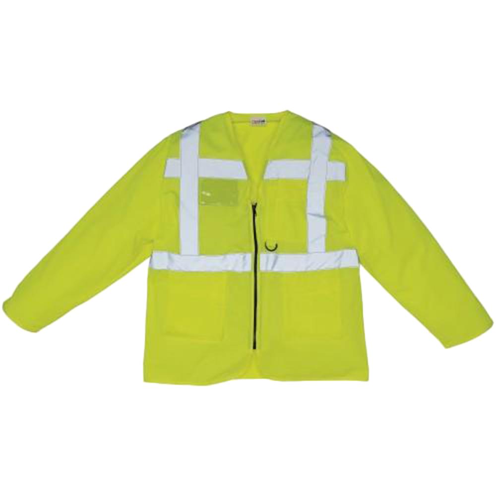 Yoko Mens Executive Hi-Vis Long Sleeve Safety Waistcoat (XL) (Hi Vis Orange)