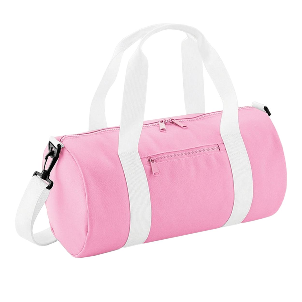 Bagbase Mini Barrel Shoulder Bag (One Size) (Black/Black)