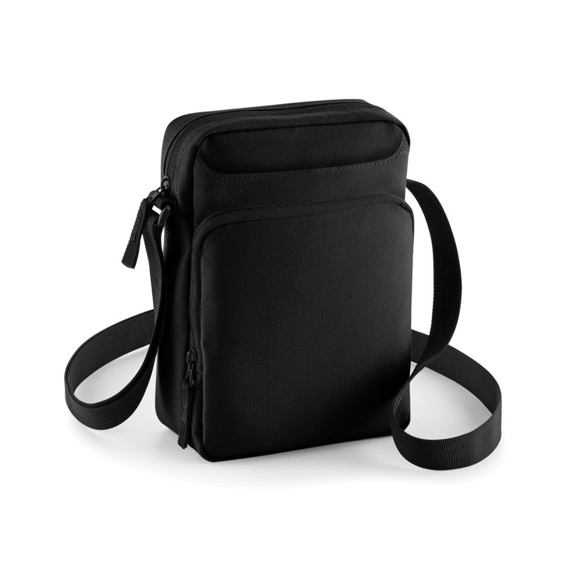 Bagbase Across Shoulder Strap Cross Body Bag (One Size) (Black)