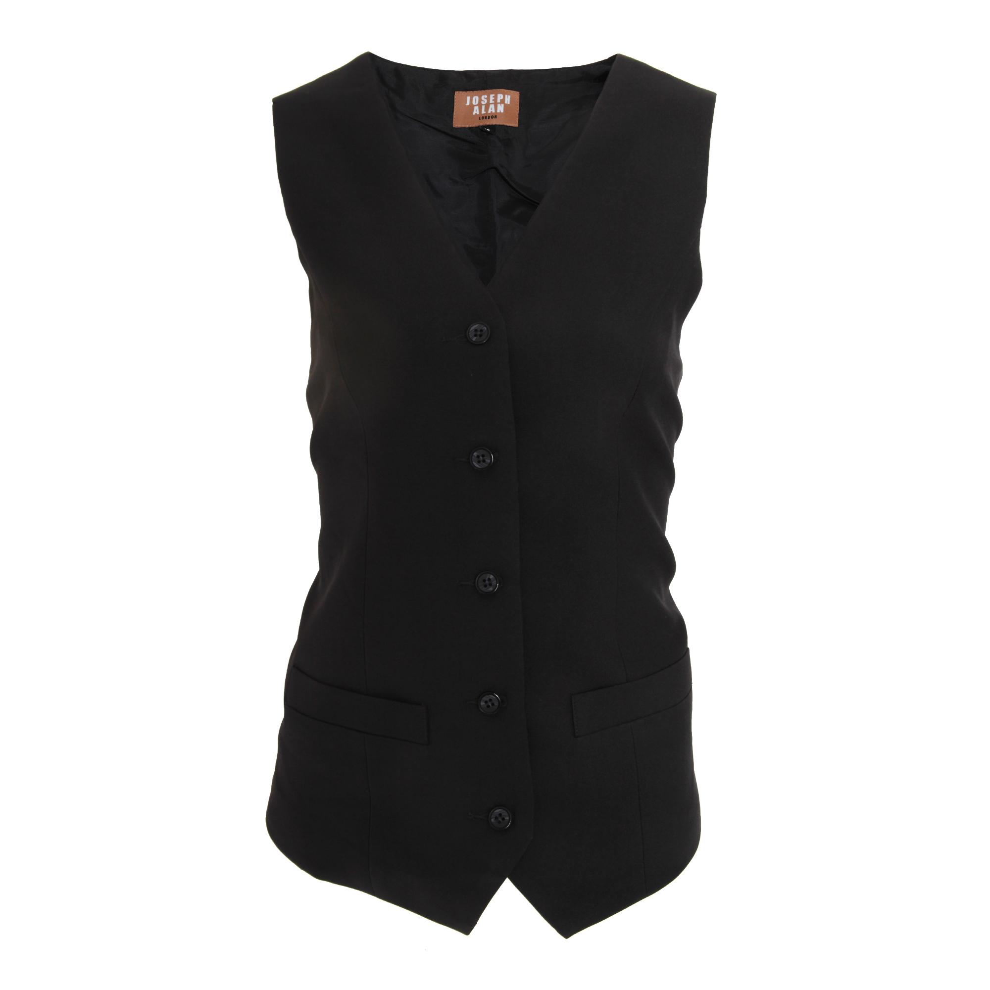 Dennys Joseph Alan Womens/Ladies Self Back Waistcoat (12) (Black)