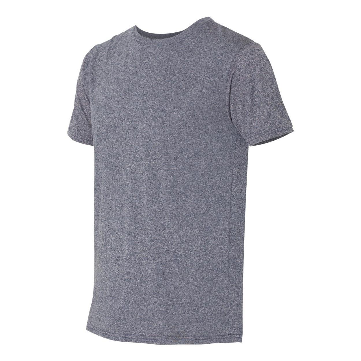 Gildan Mens Core Short Sleeve Moisture Wicking T-Shirt (XL) (Heather Sport Dark Navy)