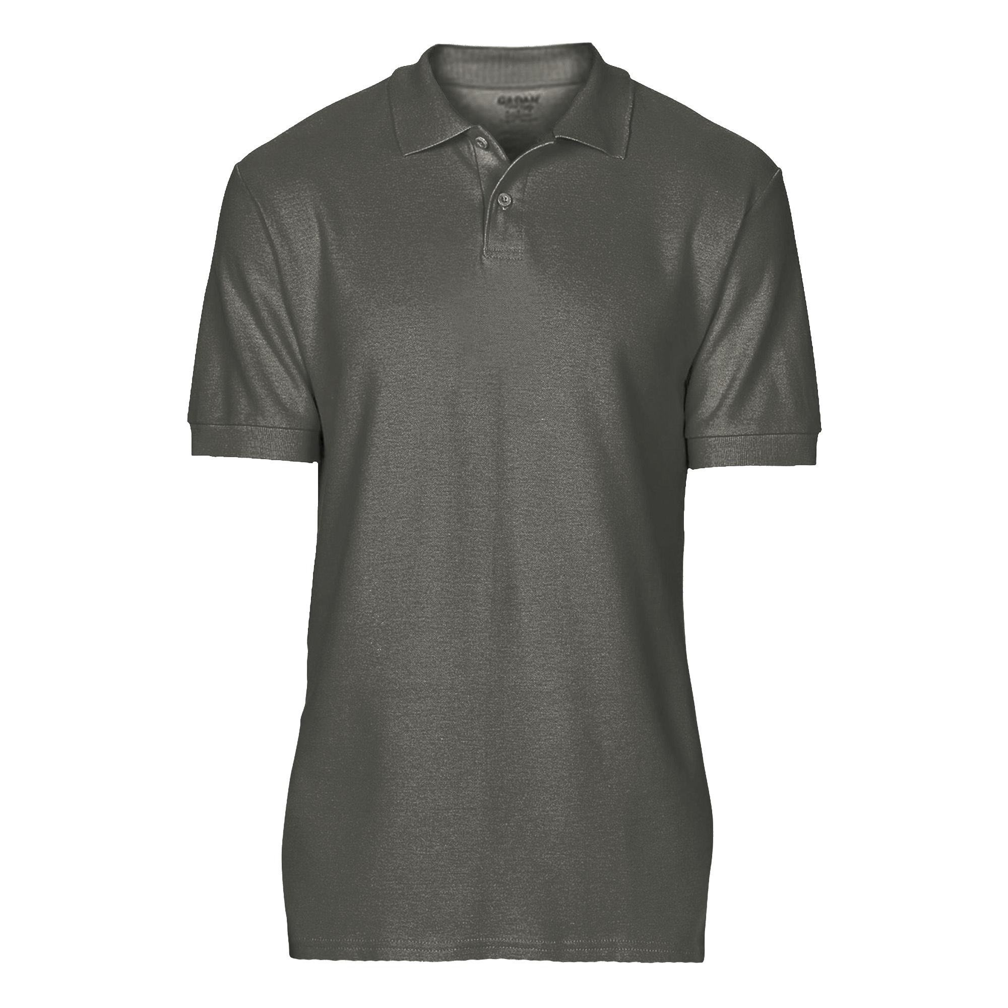 Gildan Softstyle Mens Short Sleeve Double Pique Polo Shirt (2XL) (Charcoal)