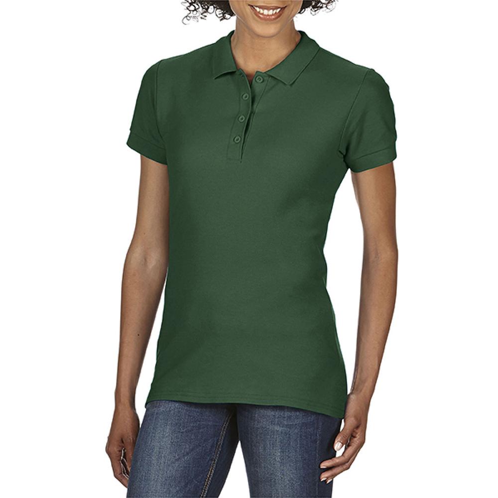 BC3719 Gildan Softstyle Womens//Ladies Short Sleeve Double Pique Polo Shirt