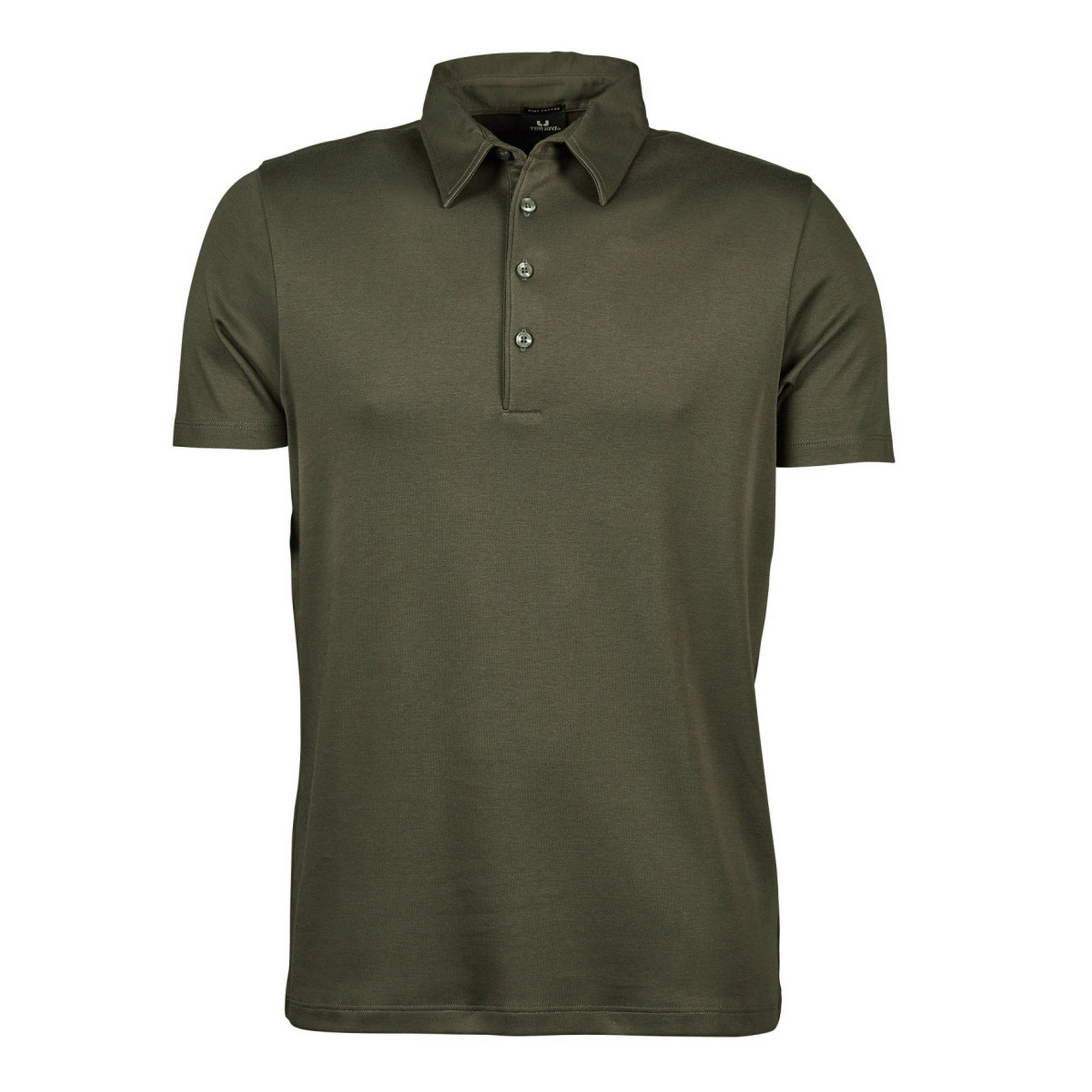 Tee Jays Mens Pima Short Sleeve Cotton Polo Shirt (2XL) (Dark Grey)