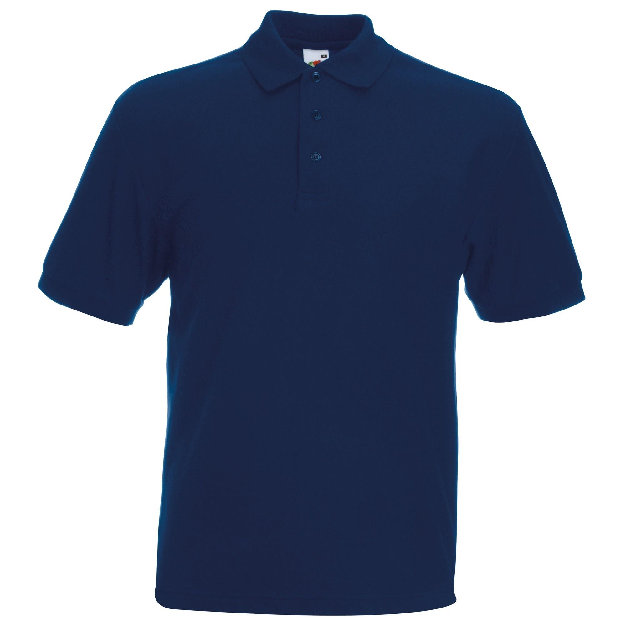 Fruit-Of-The-Loom-Mens-65-35-Heavyweight-Pique-Short-Sleeve-Polo-Shirt-BC382