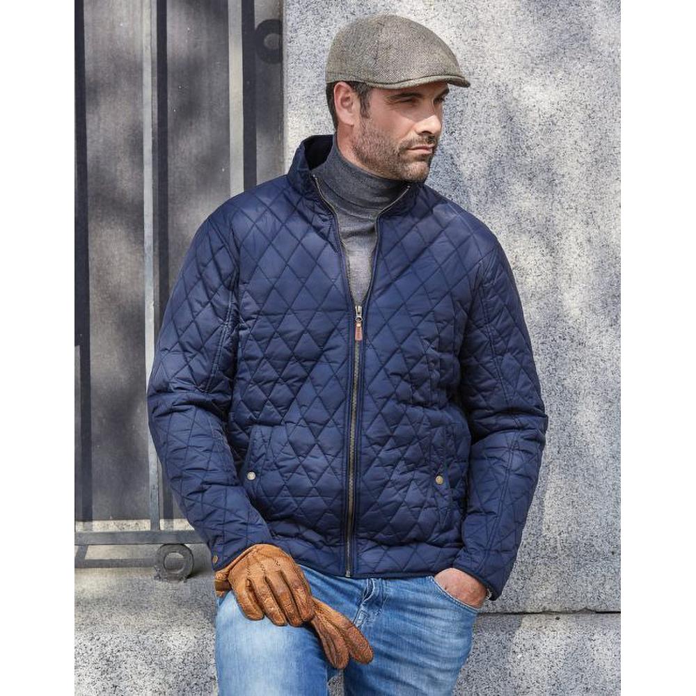 Tee Jays Mens Richmond Diamond Quilted Jacket Hunter Green Xl Ebay
