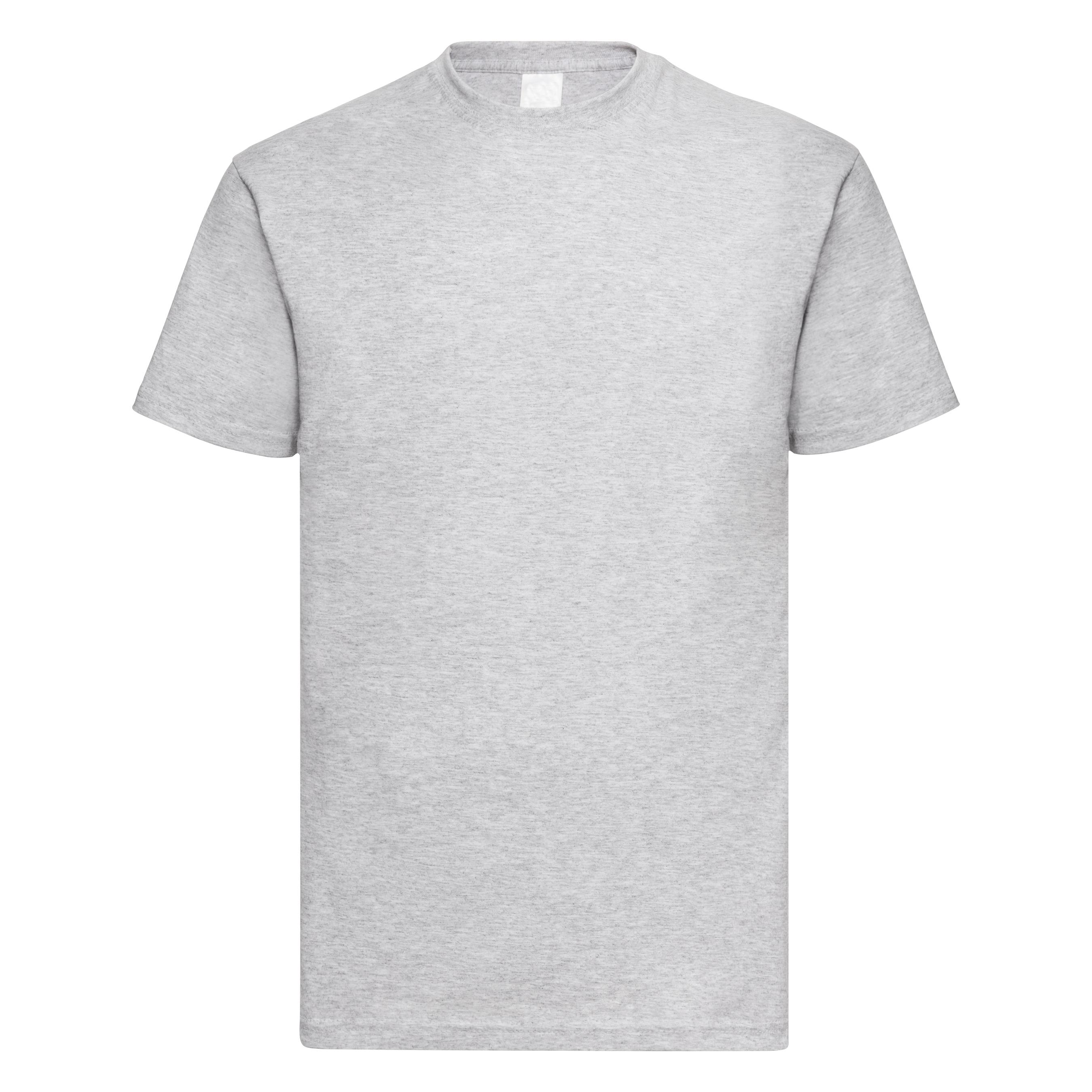 Mens Value Short Sleeve Casual T-Shirt (XXX Large) (Grey Marl)