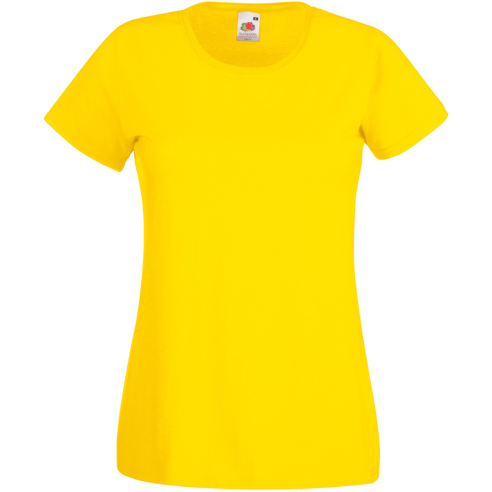 Womens/Ladies Value Fitted Short Sleeve Casual T-Shirt (XX Large) (Bright Yellow)
