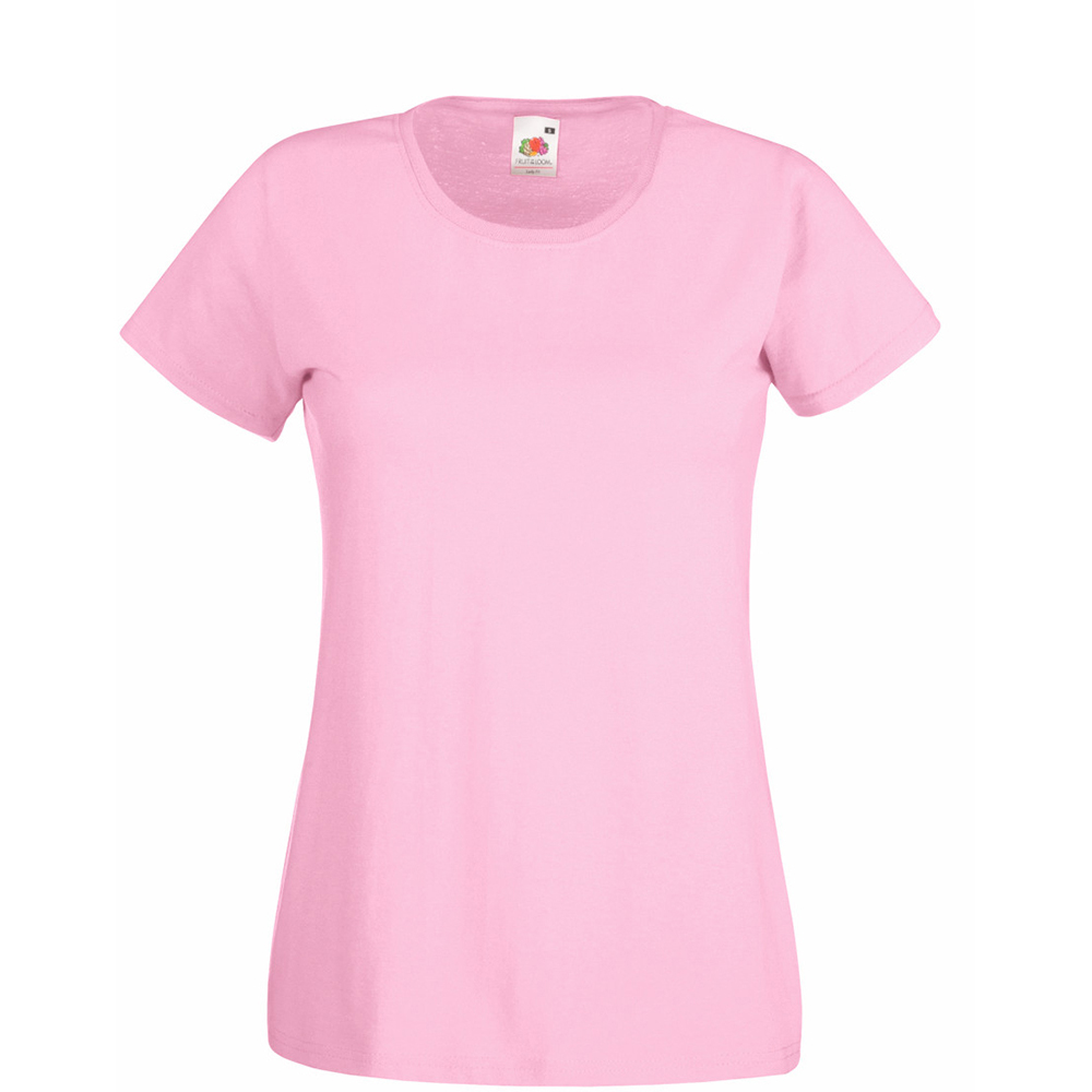 Womens/Ladies Value Fitted Short Sleeve Casual T-Shirt (X Small) (Pastel Pink)